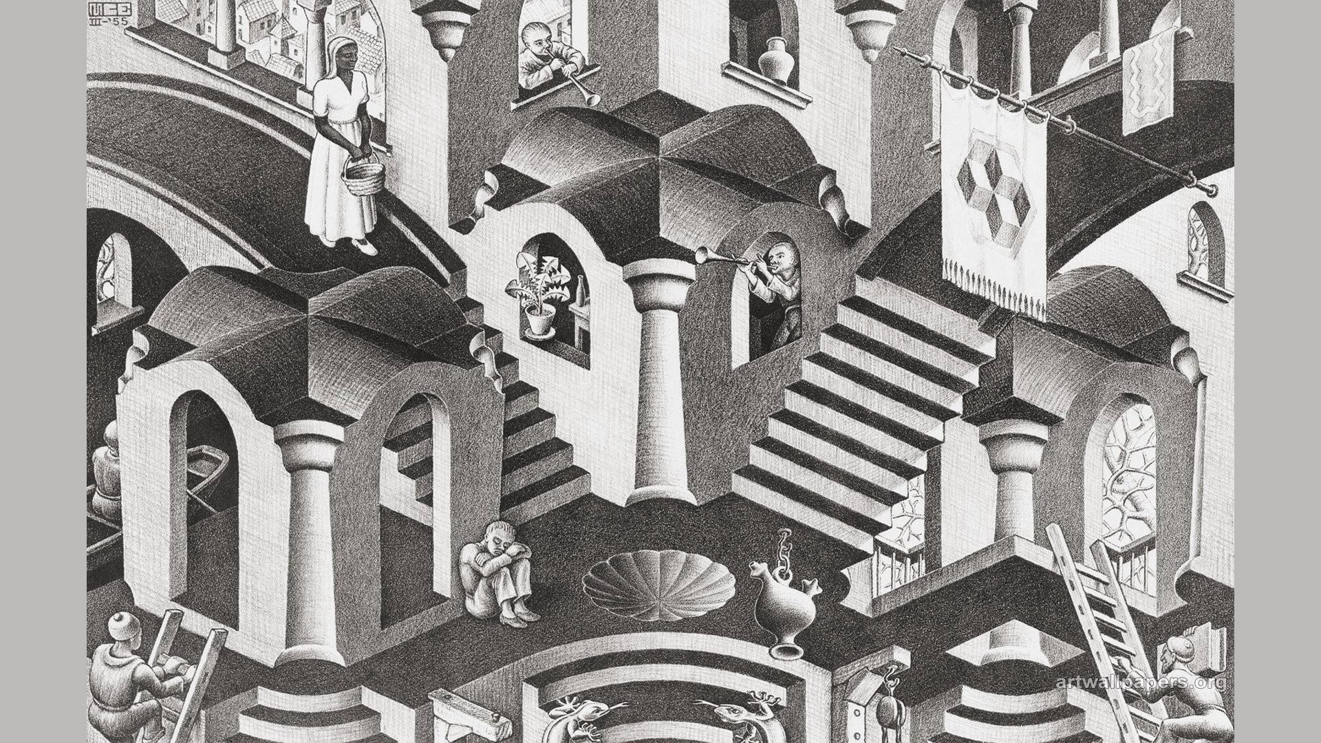 Mc Escher Wallpapers  U00b7 U2460 Wallpapertag