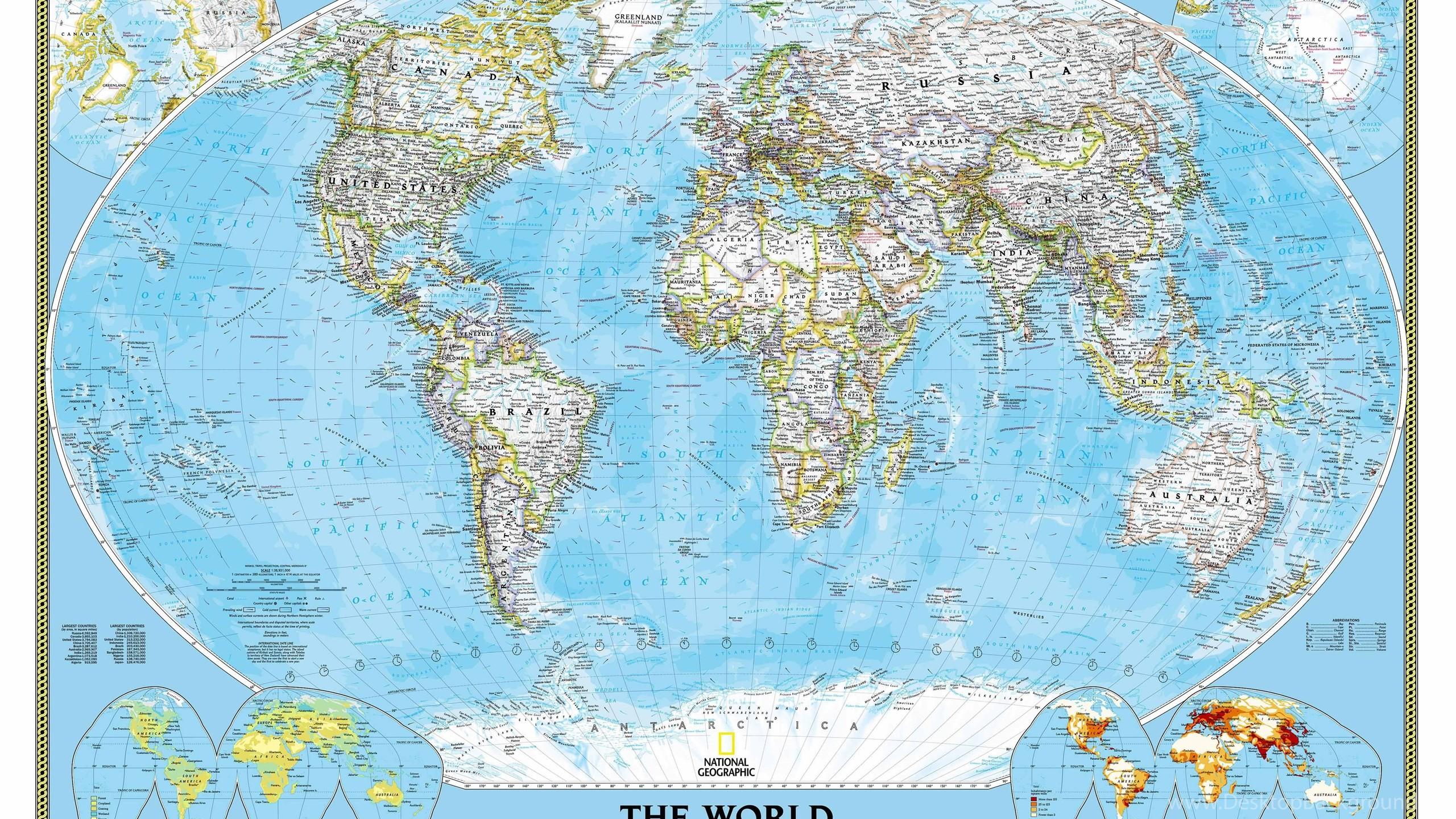 World Map Desktop Wallpaper ·①