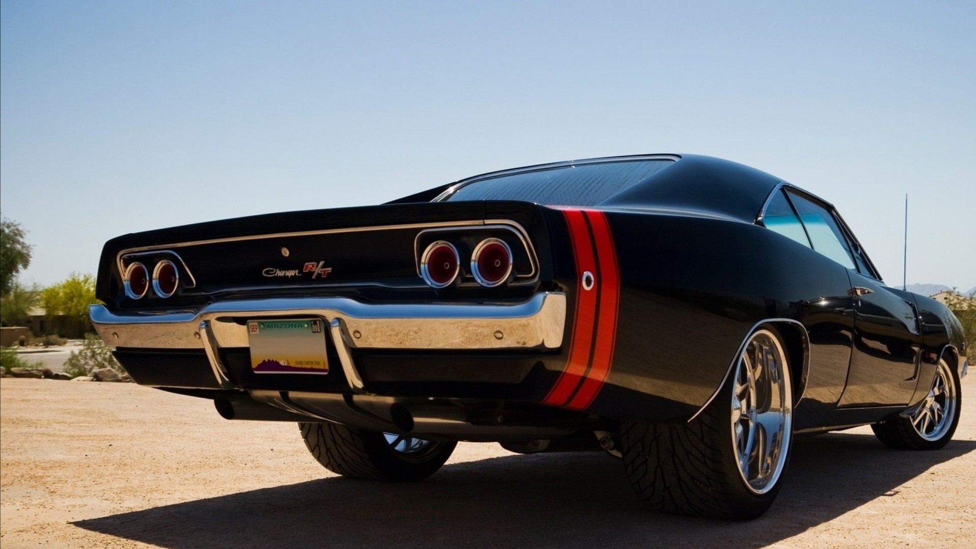 Old Muscle Car Wallpaper ·①