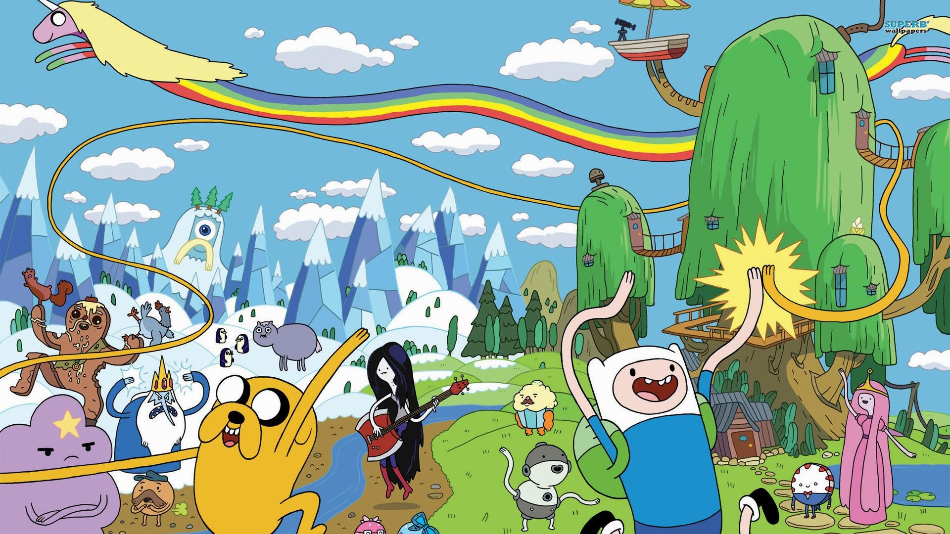 Adventure time desktop background free protagonistas de adventure time desktop wallpaper voltagebd Image collections