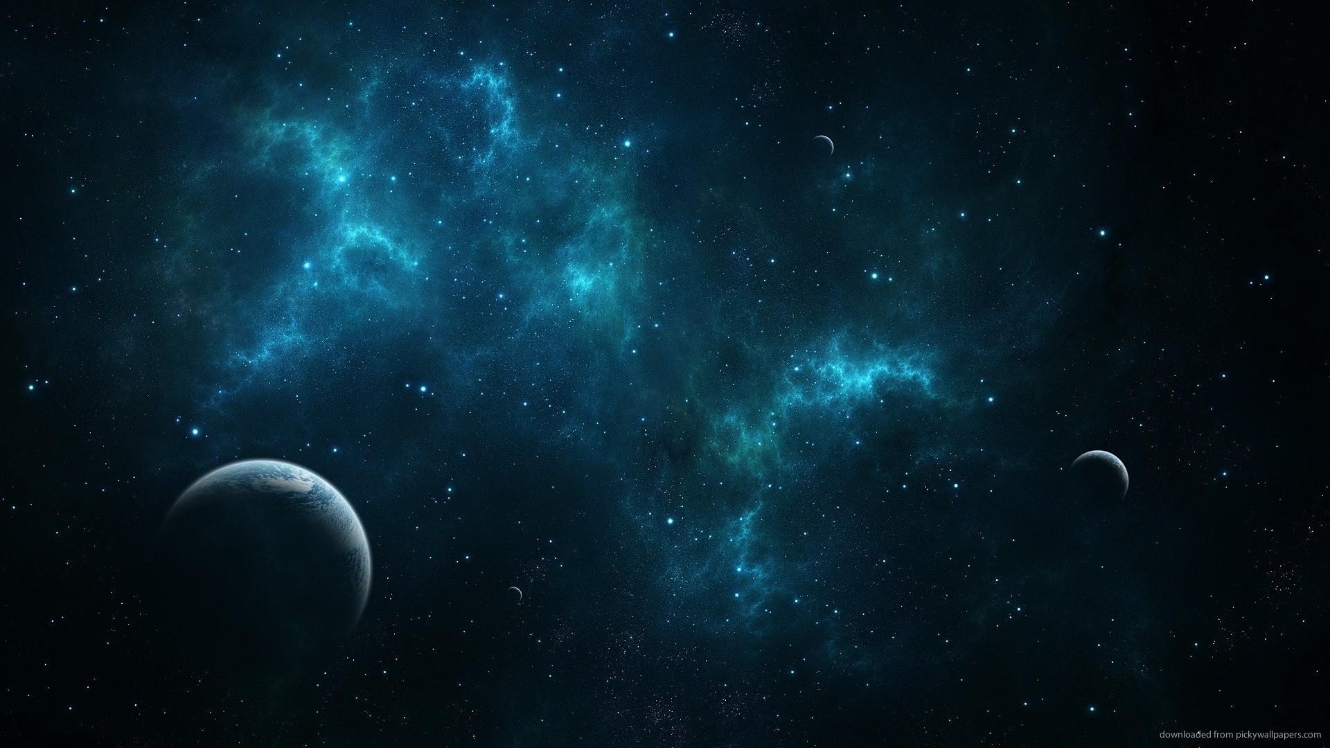 1920x1080 Deep Blue Space Wallpaper