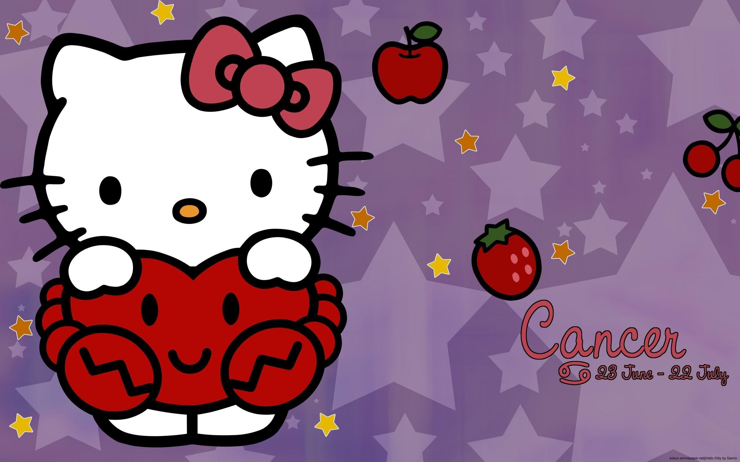 Black Hello Kitty Background