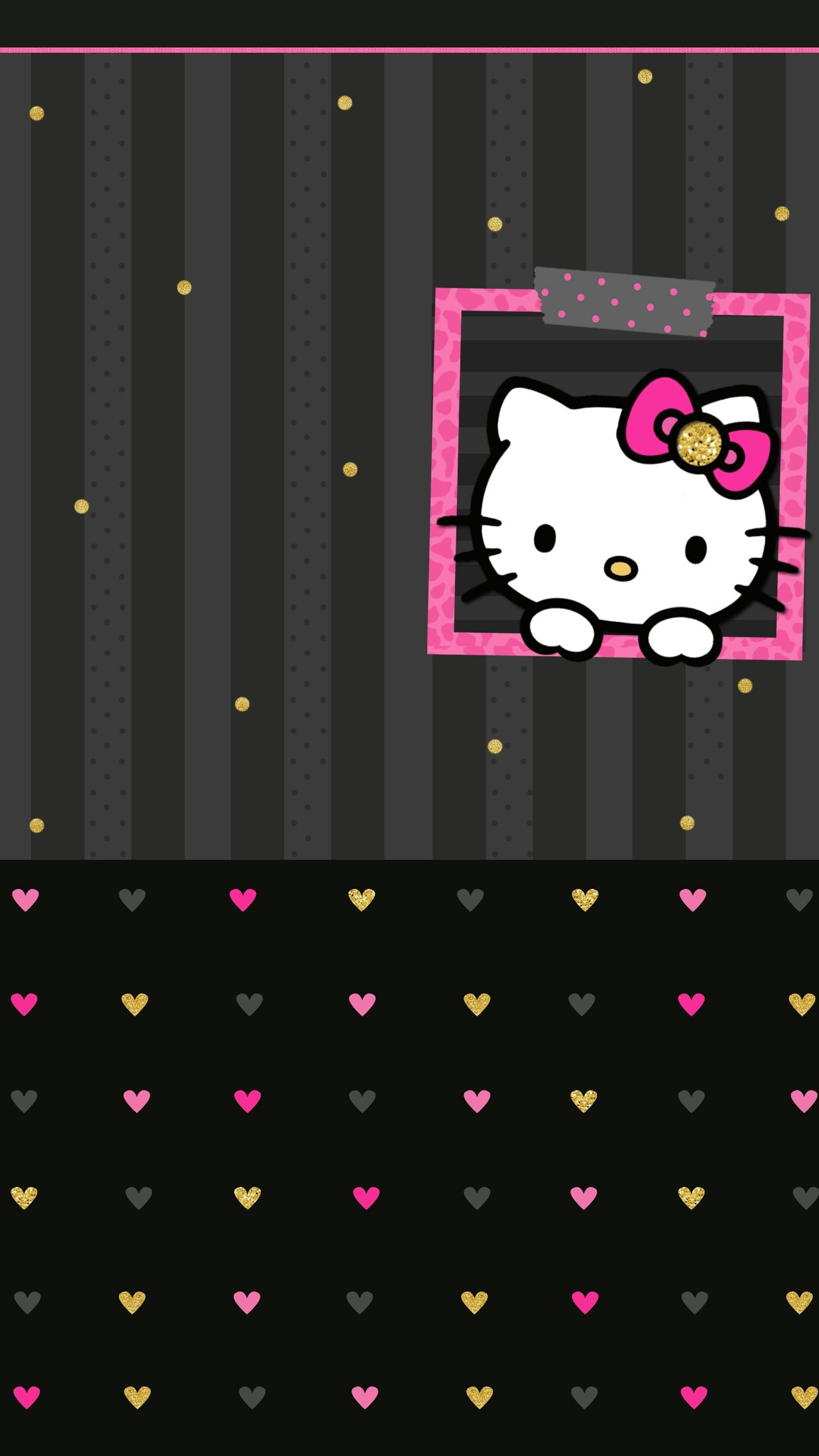 Black And Pink Hello Kitty Wallpaper 1