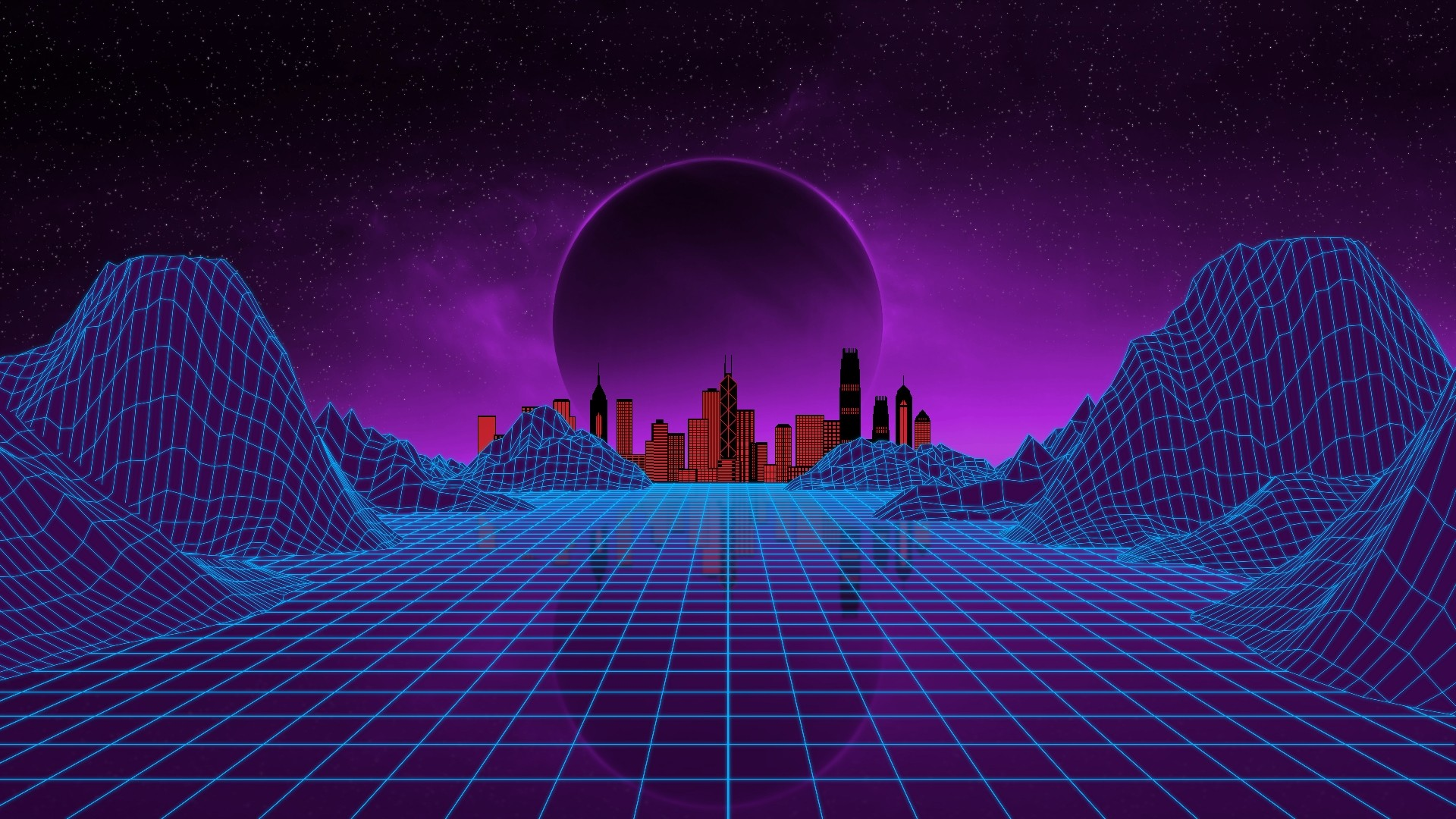 1920x1080 iphone wallpapers: Synthwave Wallpaper ·① Download Free High Resolution