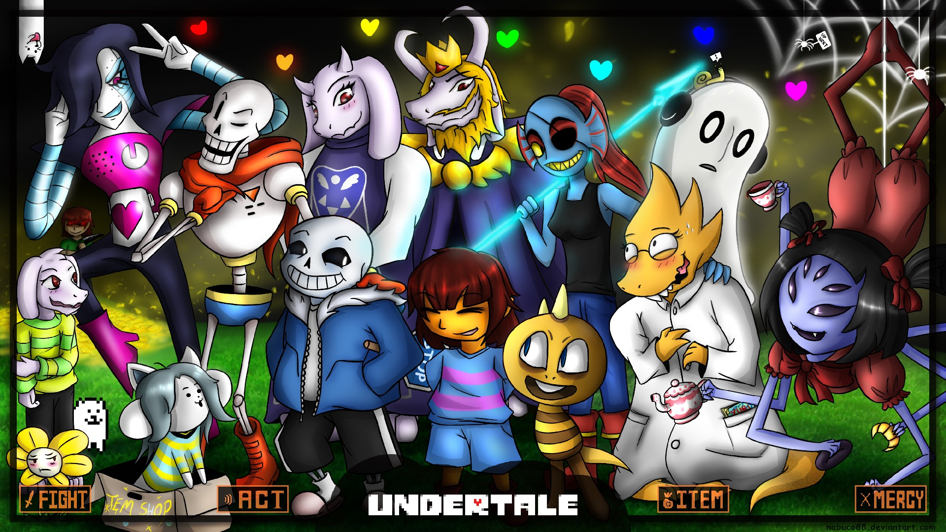 1920x1080 undertale wallpaper by nabuco88 on deviantart