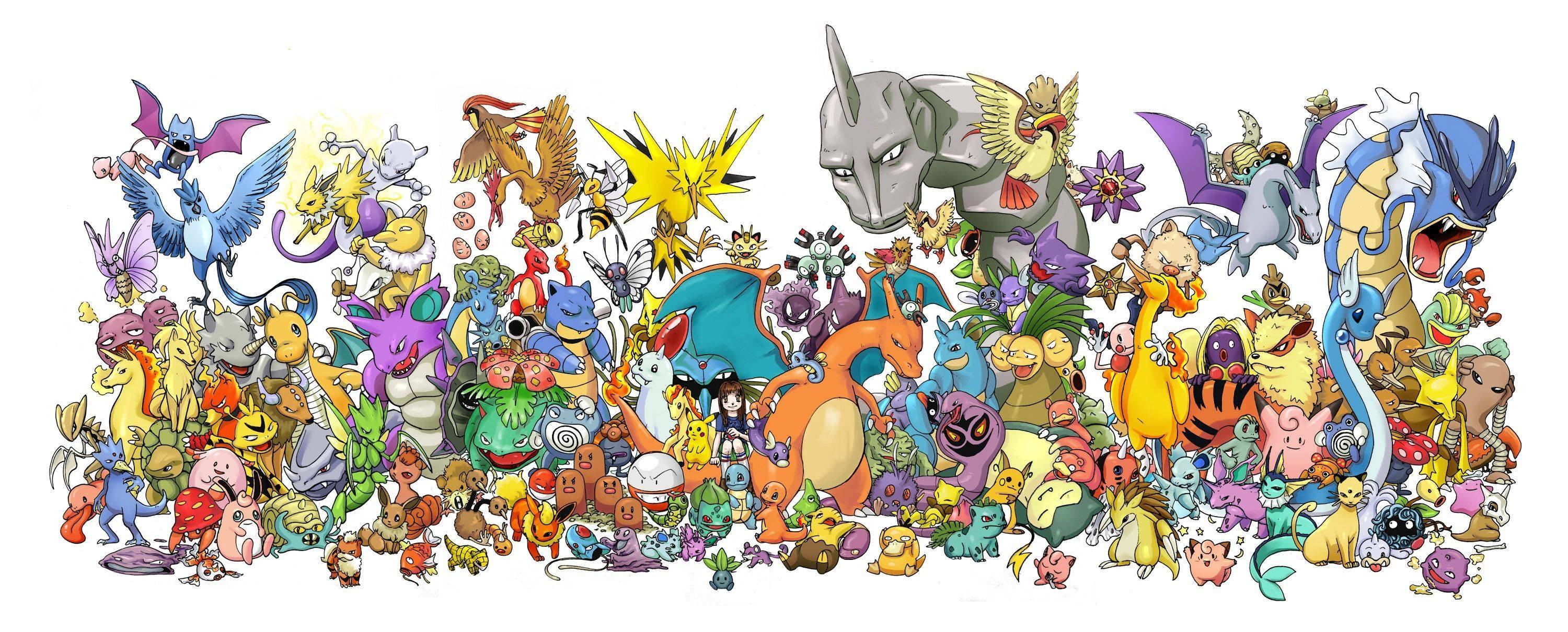 3000x1210 Wallpapers For > Original 151 Pokemon Wallpaper · Download · 1032 Pokemon Wallpapers ...