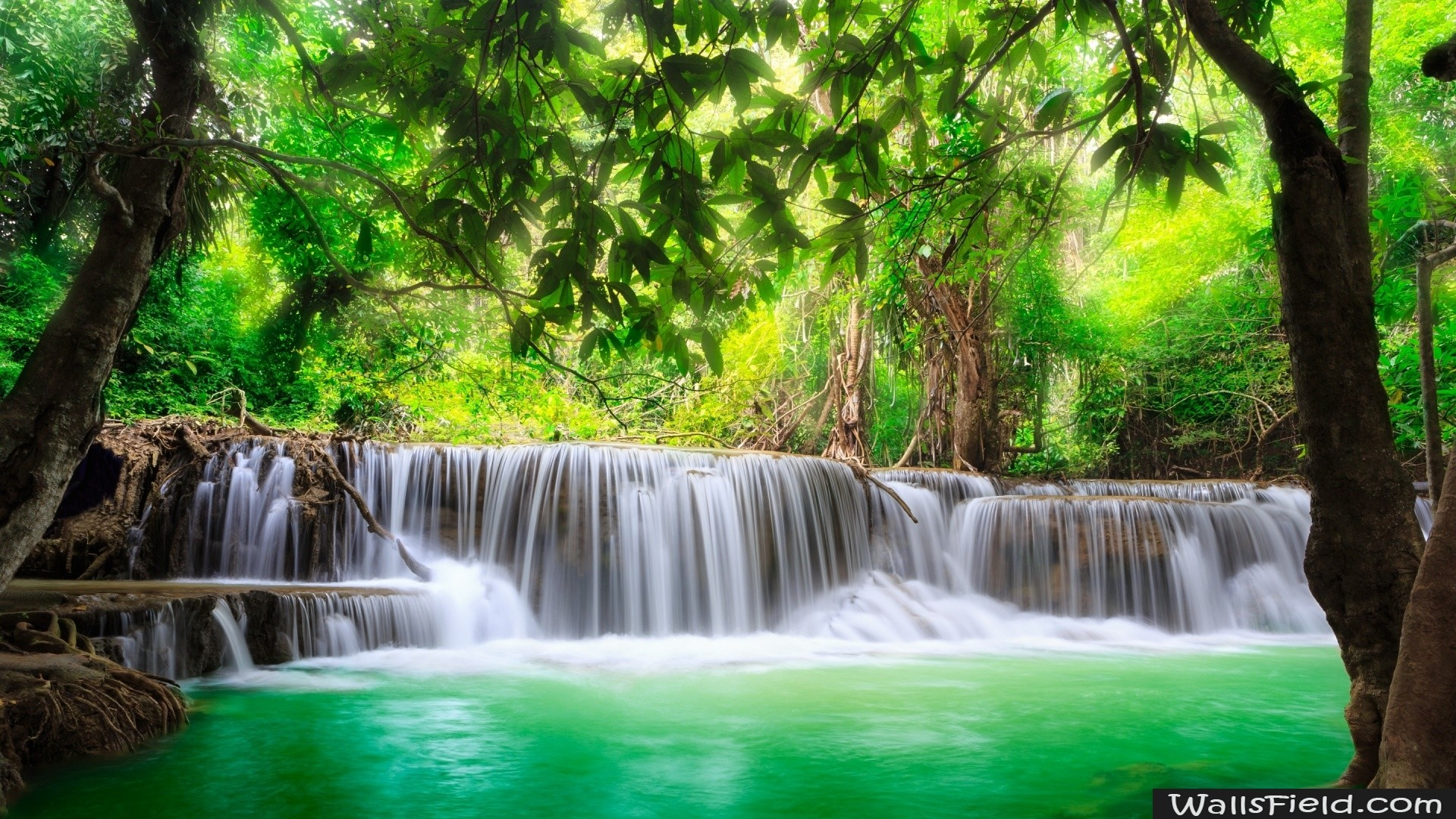 природа водопад  № 394096 без смс