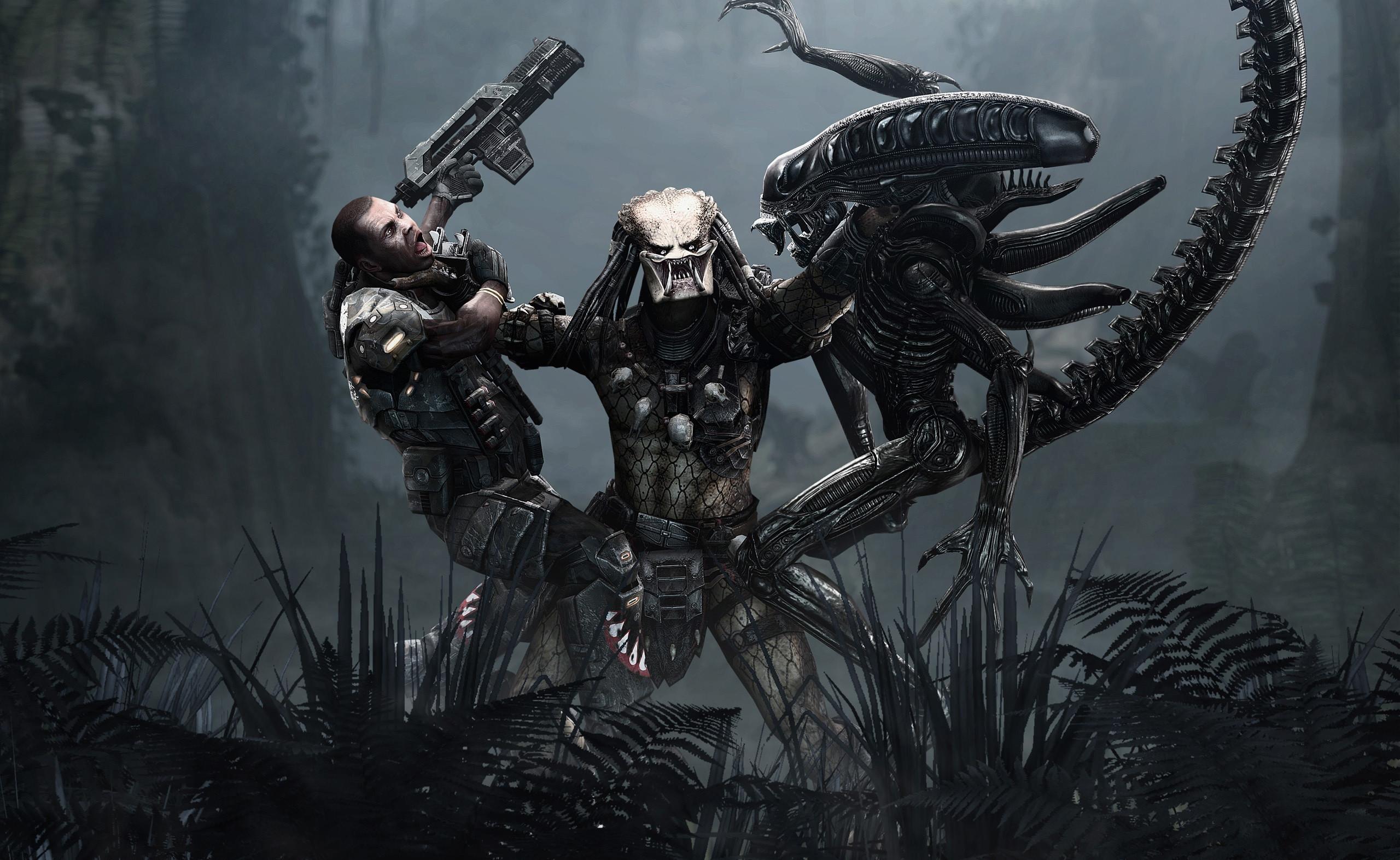 Alien vs predator wallpaper 2560x1573 alien chess predator hd wallpaper background id109601 voltagebd Choice Image