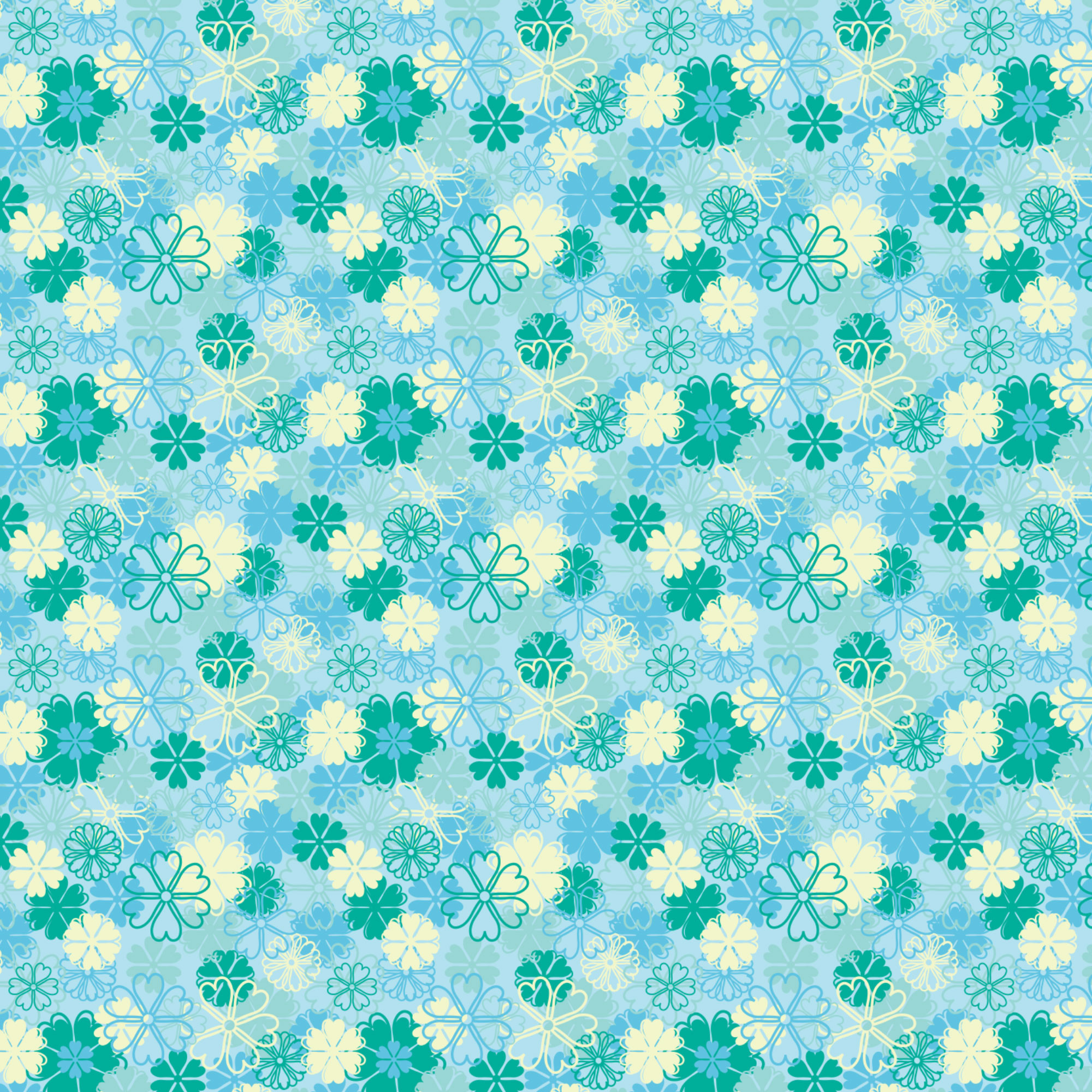 Blue Floral Background ·① WallpaperTag