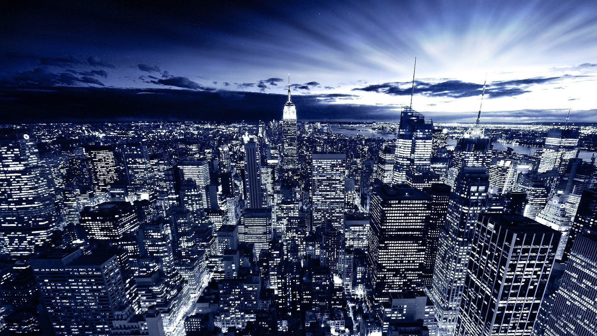 NYC At Night Wallpaper 1