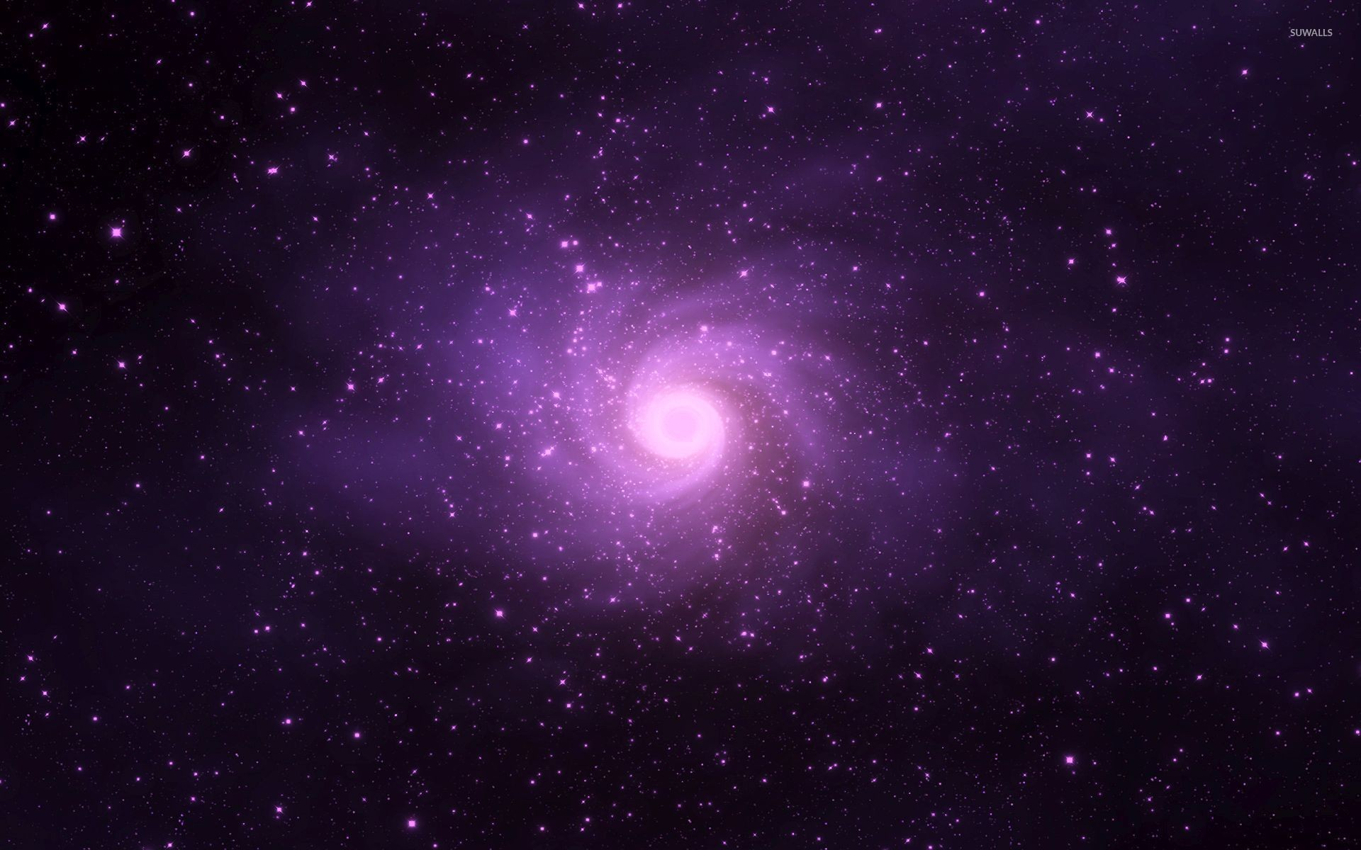 1920x1200 Purple Spiral Galaxy Wallpaper Download