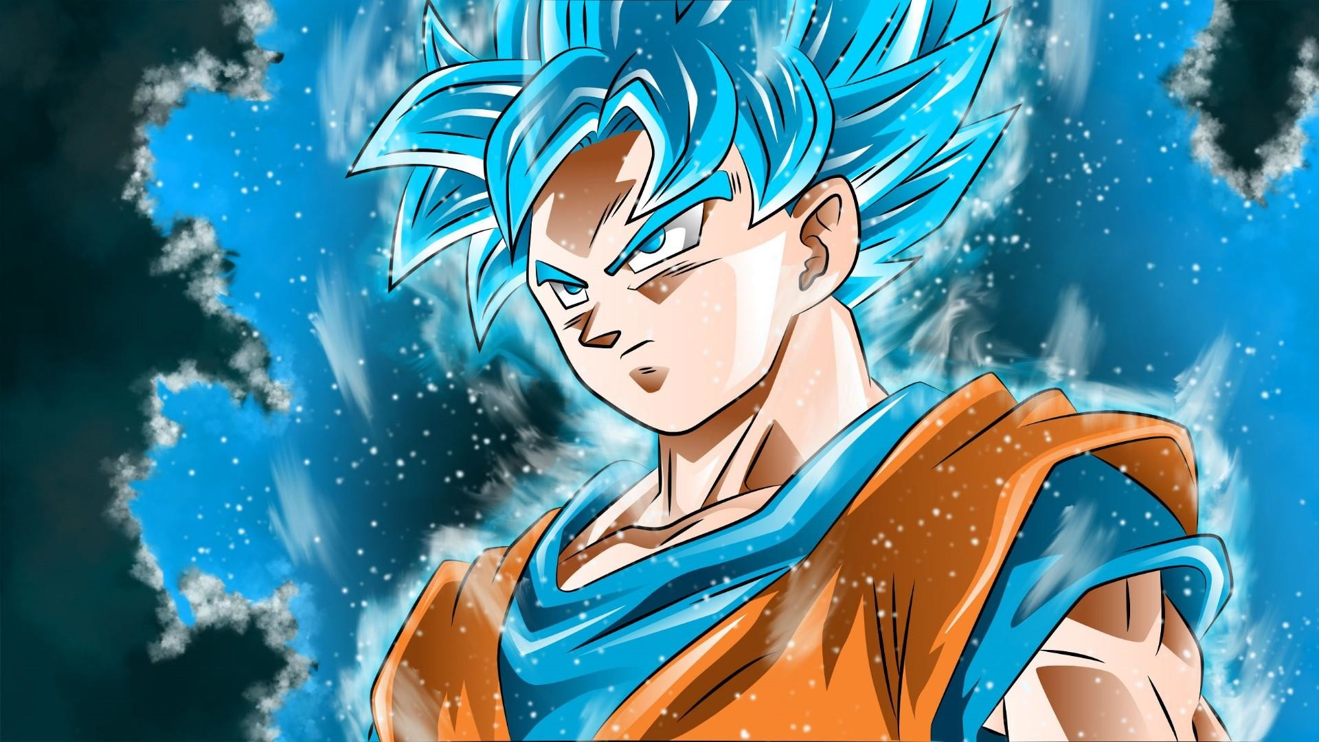 Goku Blue Wallpapers Wallpapertag