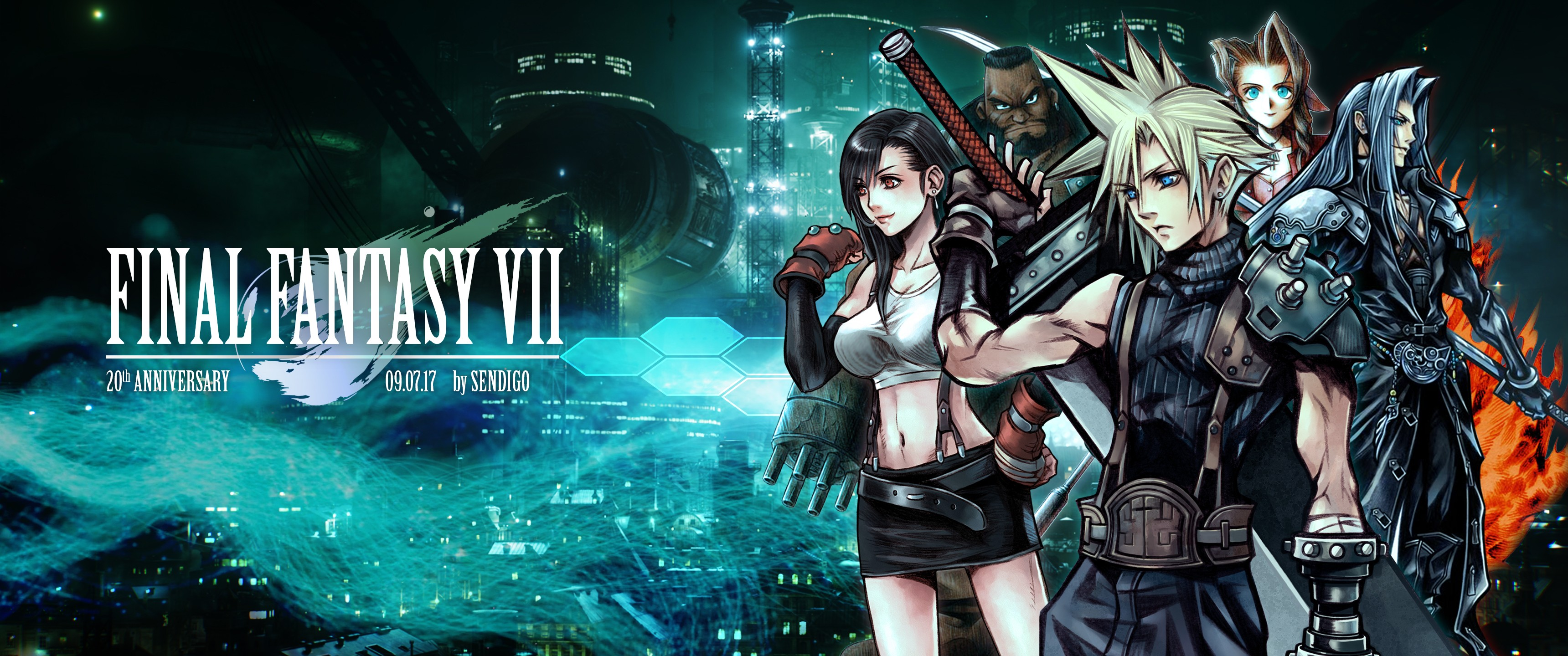 3440x1440 Large Final Fantasy 7 Wallpaper Download