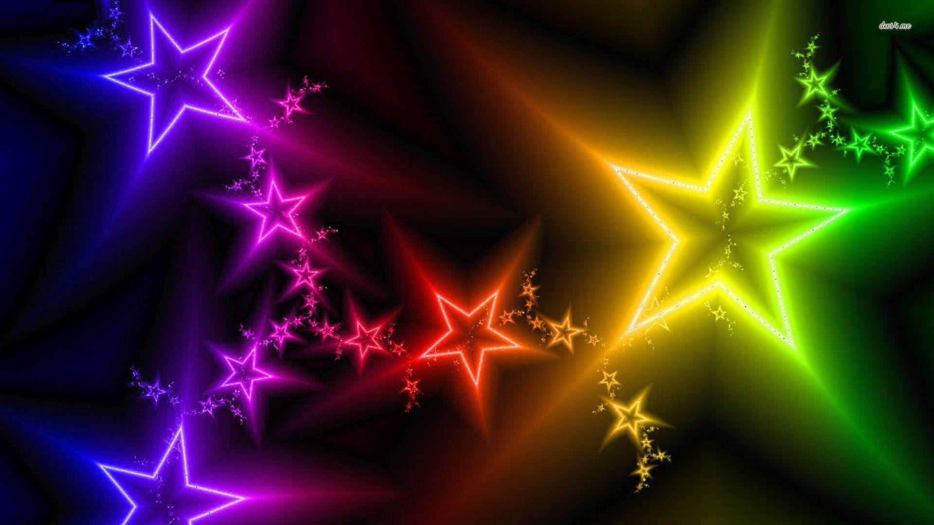 Rainbow Stars Backgrounds ·① WallpaperTag