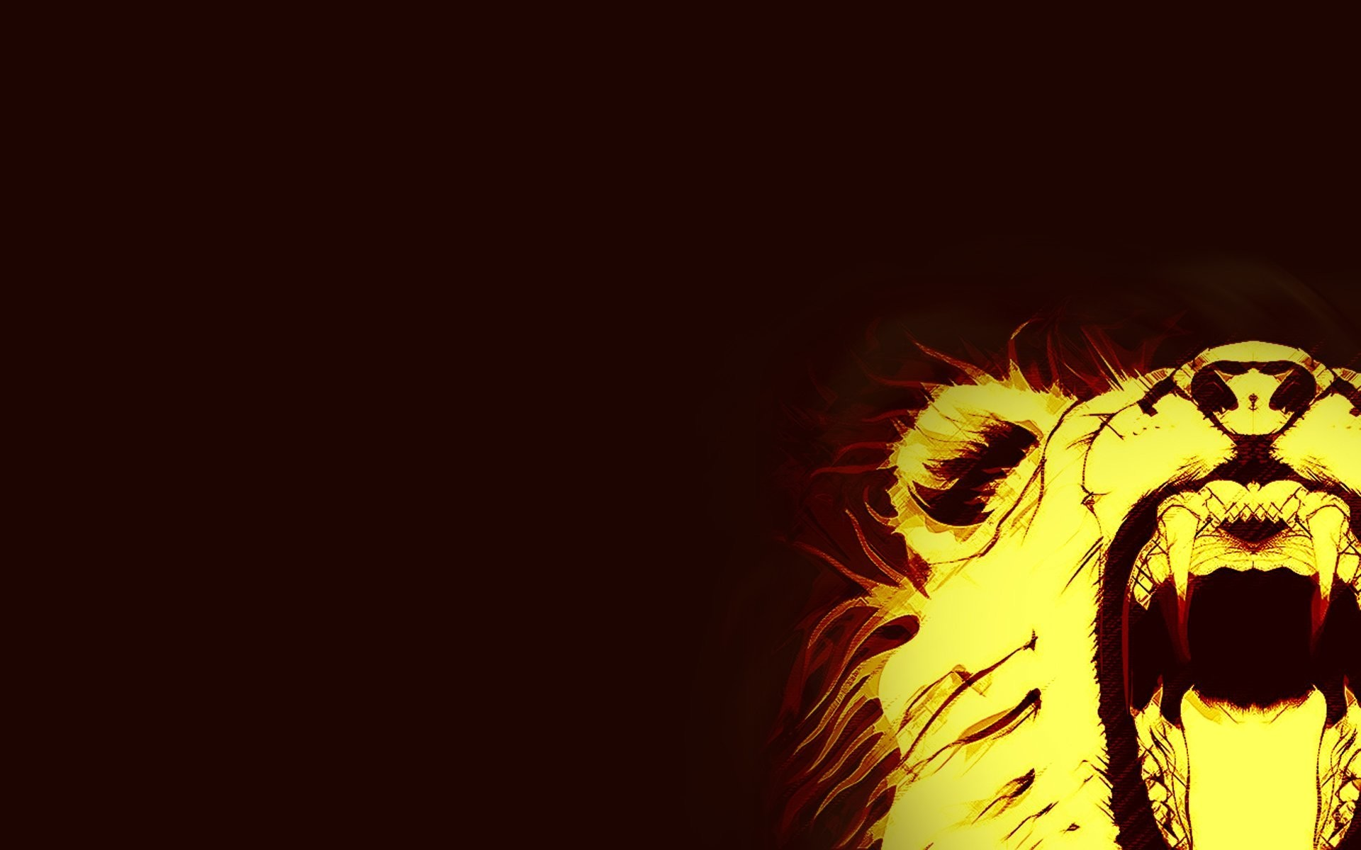 fire lion wallpapers 183��