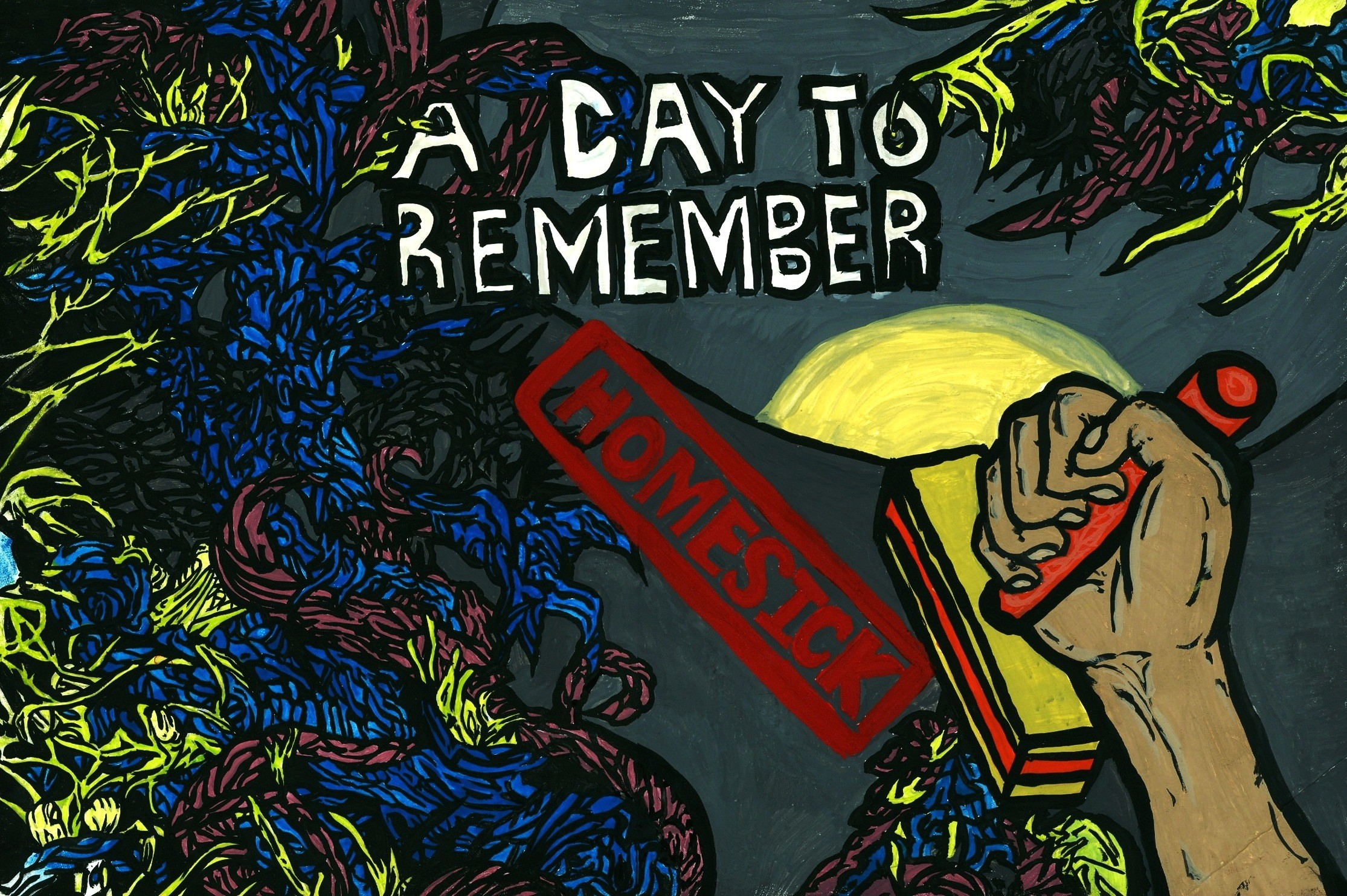 A Day to Remember Homesick Wallpaper ·① WallpaperTag A Day To Remember Homesick Album Cover Black And White