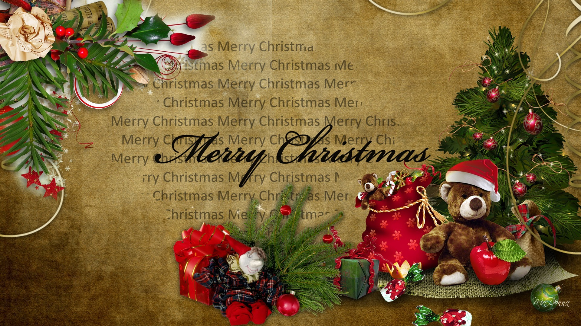 old fashion christmas wallpaper free - photo #29