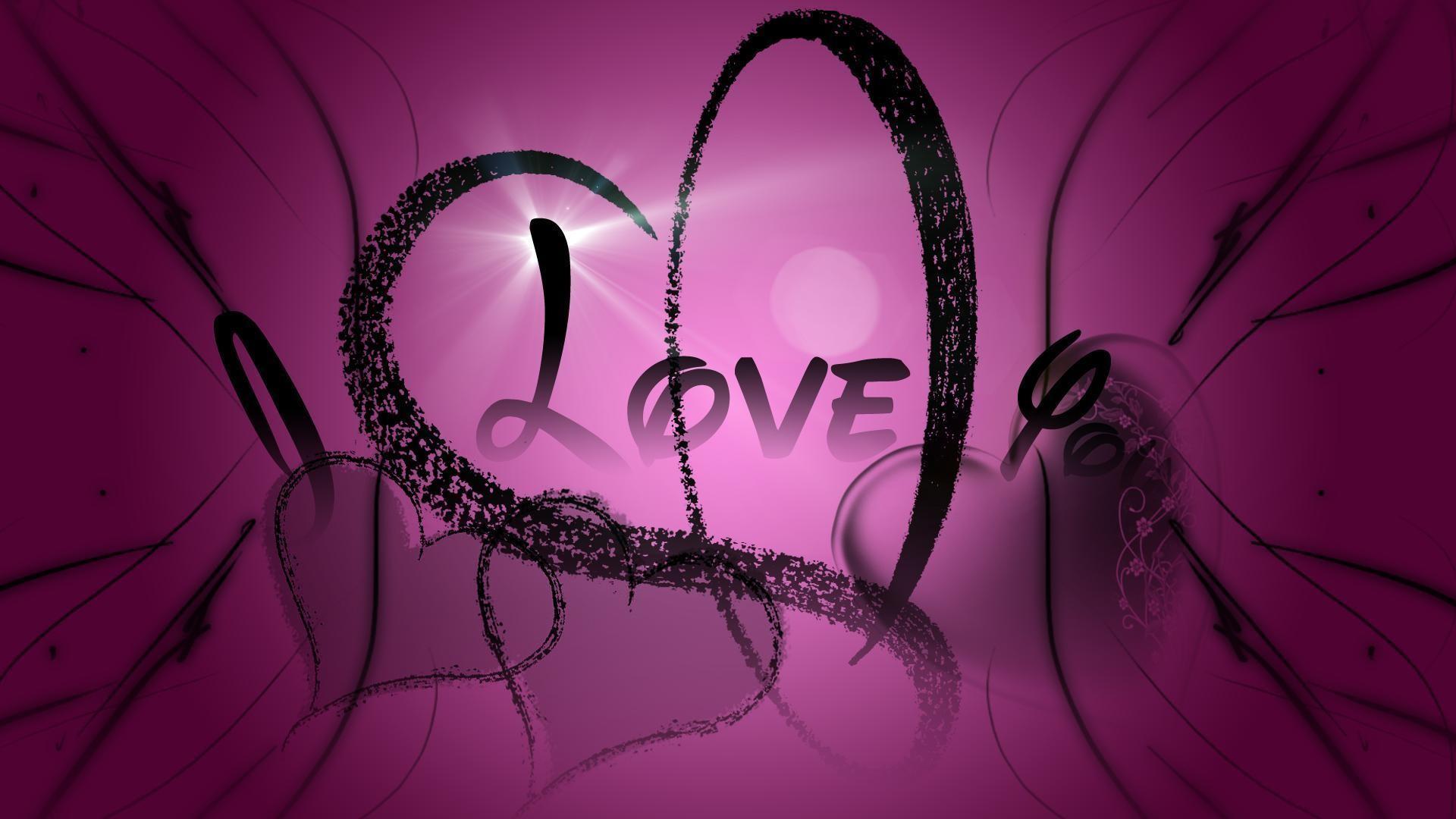 Purple Hearts Wallpaper 1
