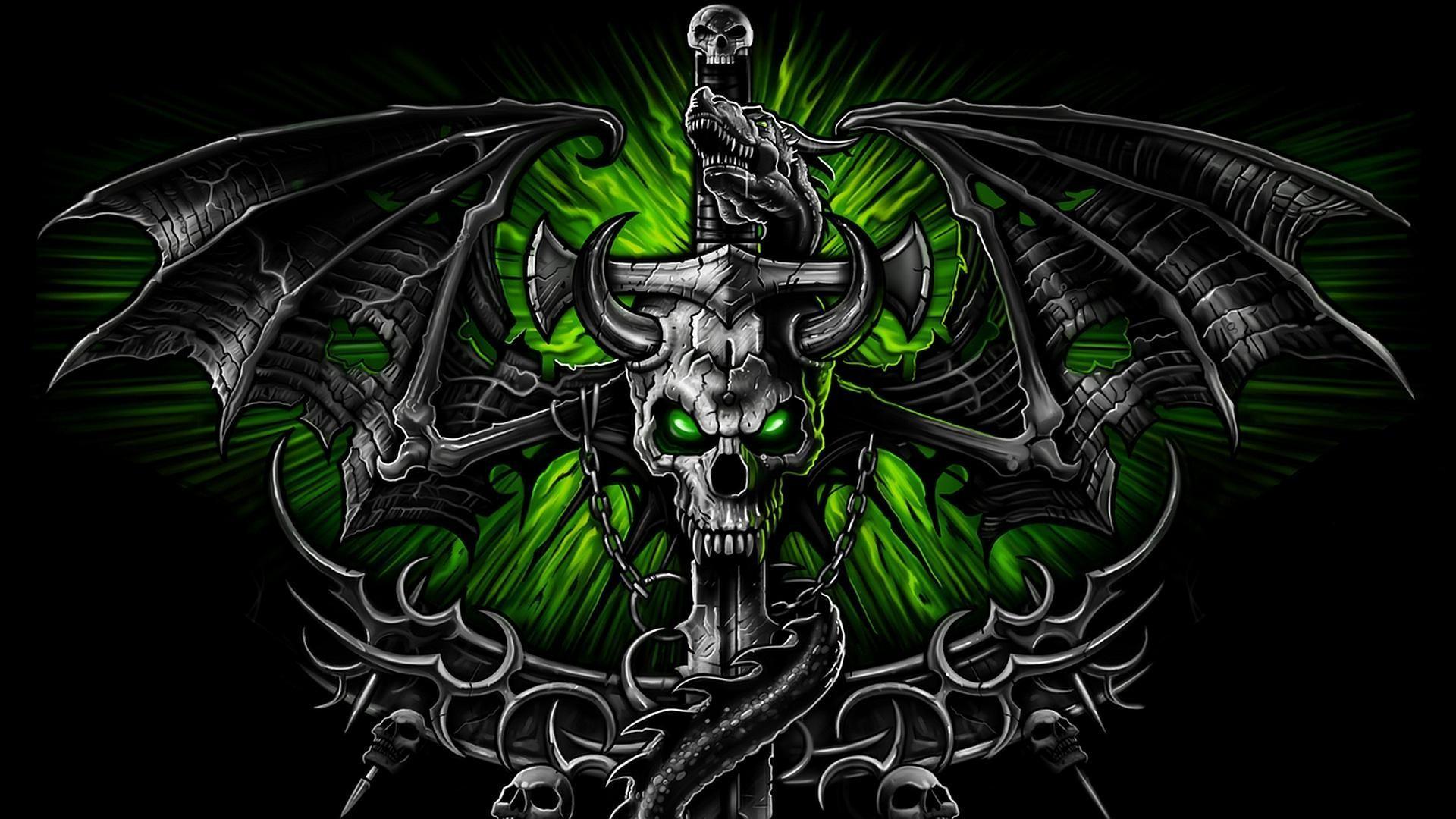Evil Skulls Wallpaper ·①