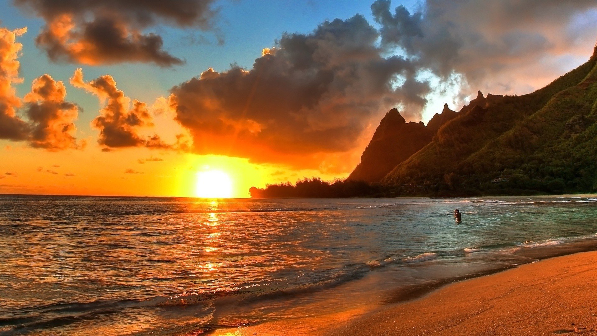 10 New Hawaii Beach Pictures Wallpapers Full Hd 1920 1080: Hawaii Sunset Wallpaper ·① WallpaperTag
