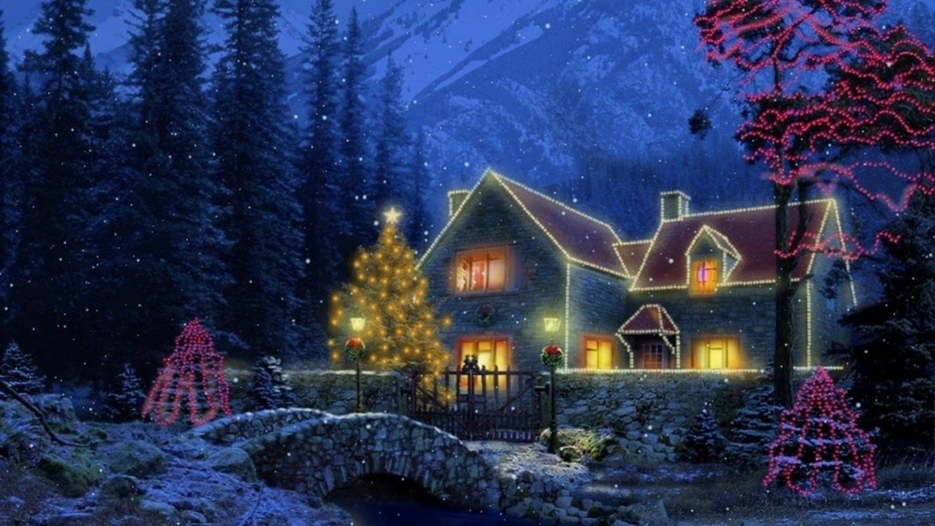 Christmas Cottage Wallpaper ·① WallpaperTag