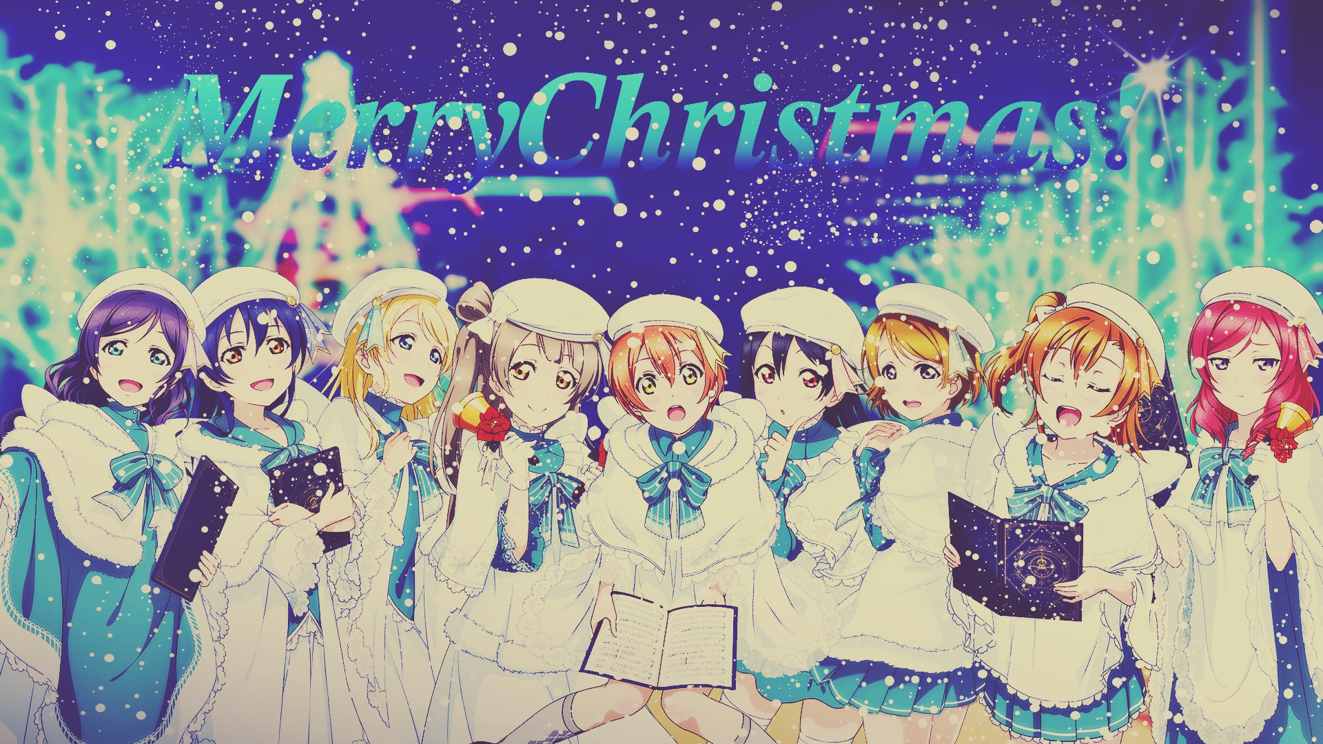 Anime Christmas wallpaper ·① Download free awesome HD ...