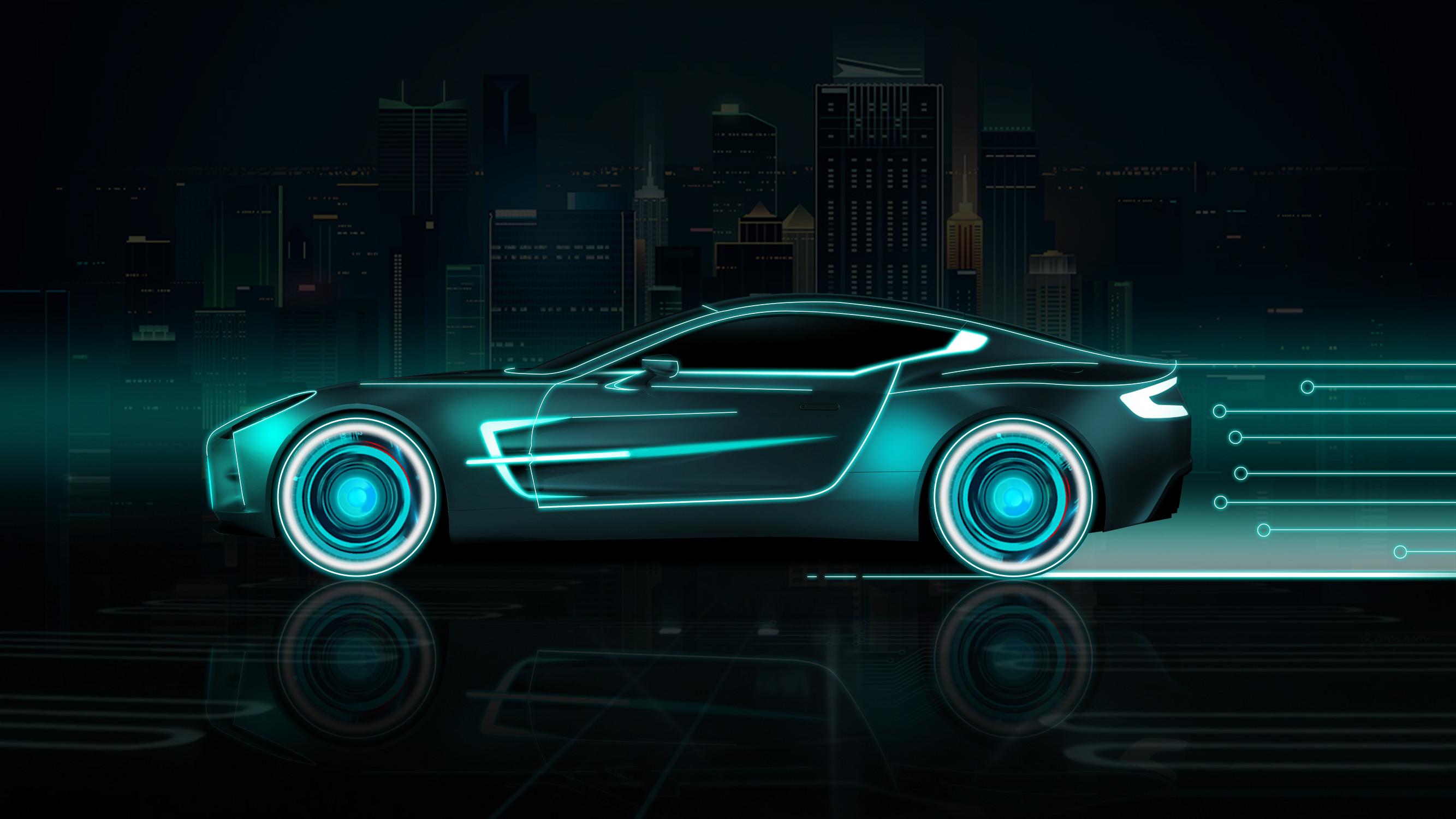1920x1080 1920x1080 Wallpaper Cars, Lights, Neon