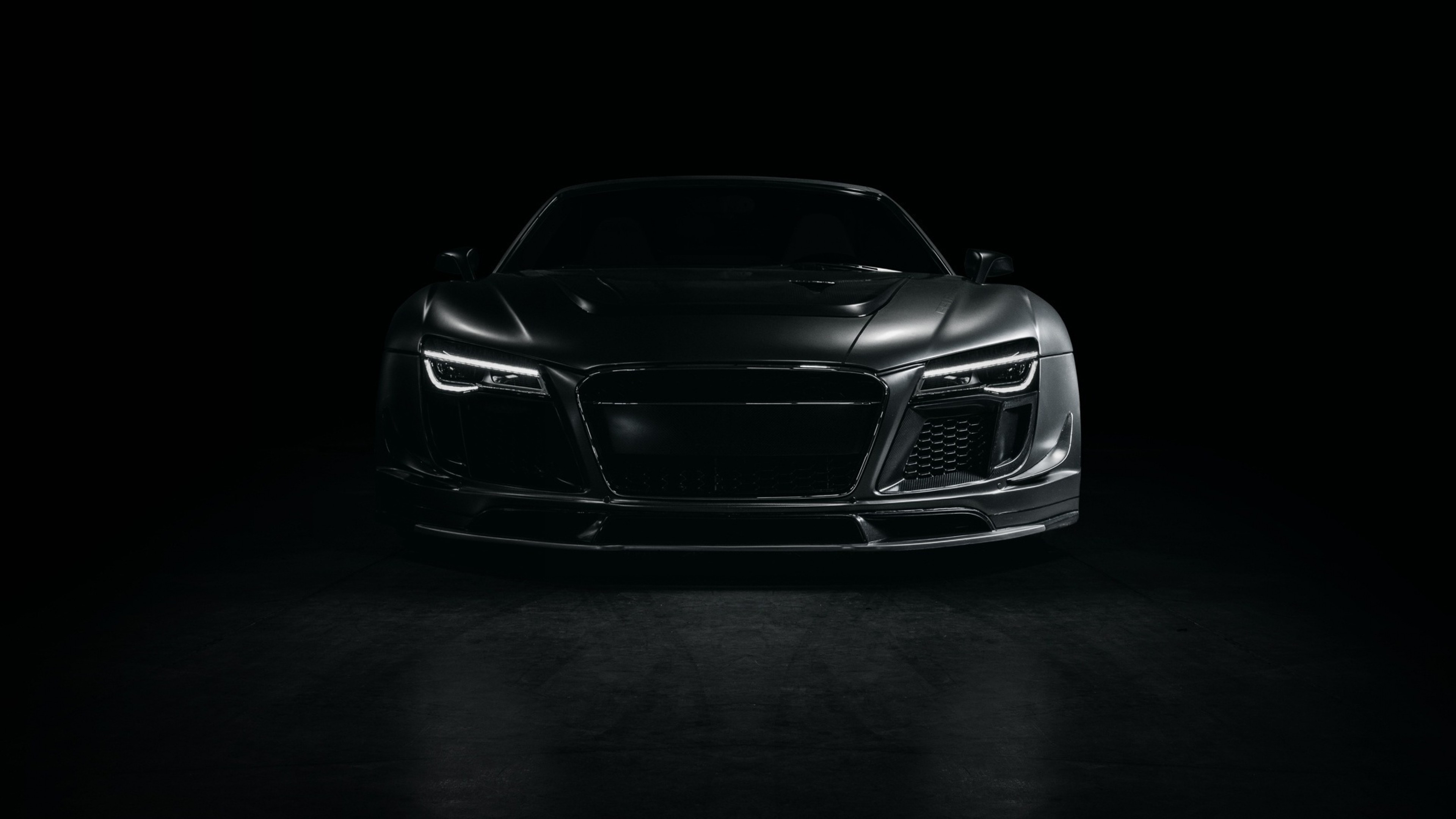 3840x2160 Preview Wallpaper Audi, R8, Sports Car, Tuning, Front View, Black  3840x2160
