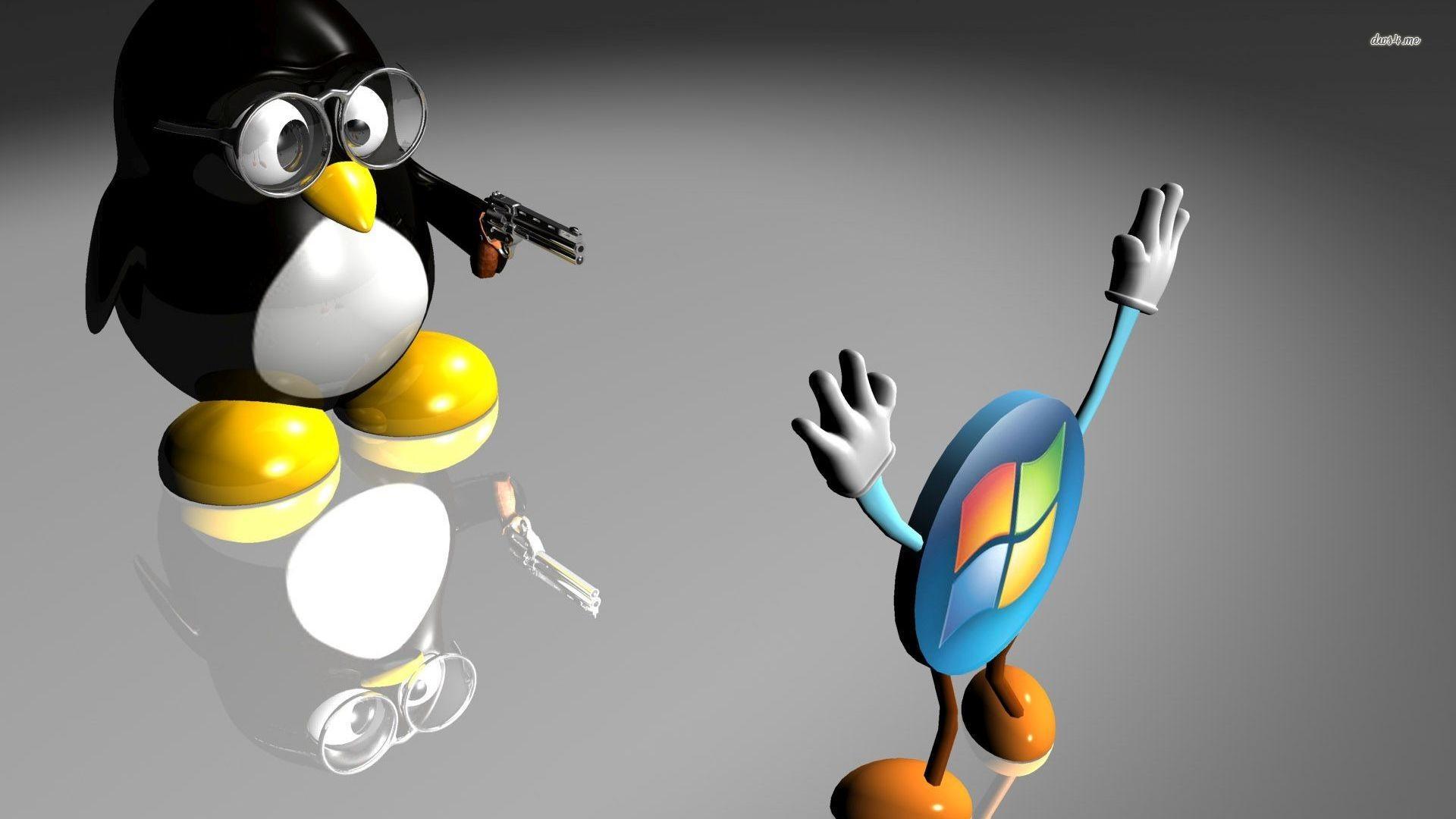 Wallpaper Linux vs Windows ·① WallpaperTag