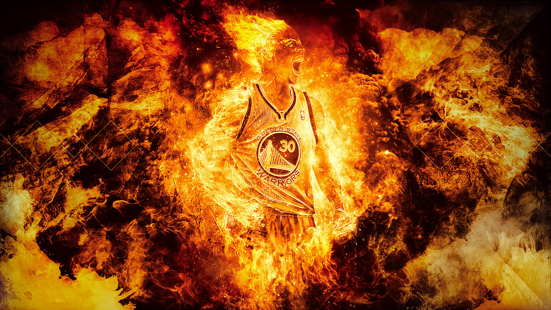 Stephen Curry Fire Wallpaper Wallpapertag
