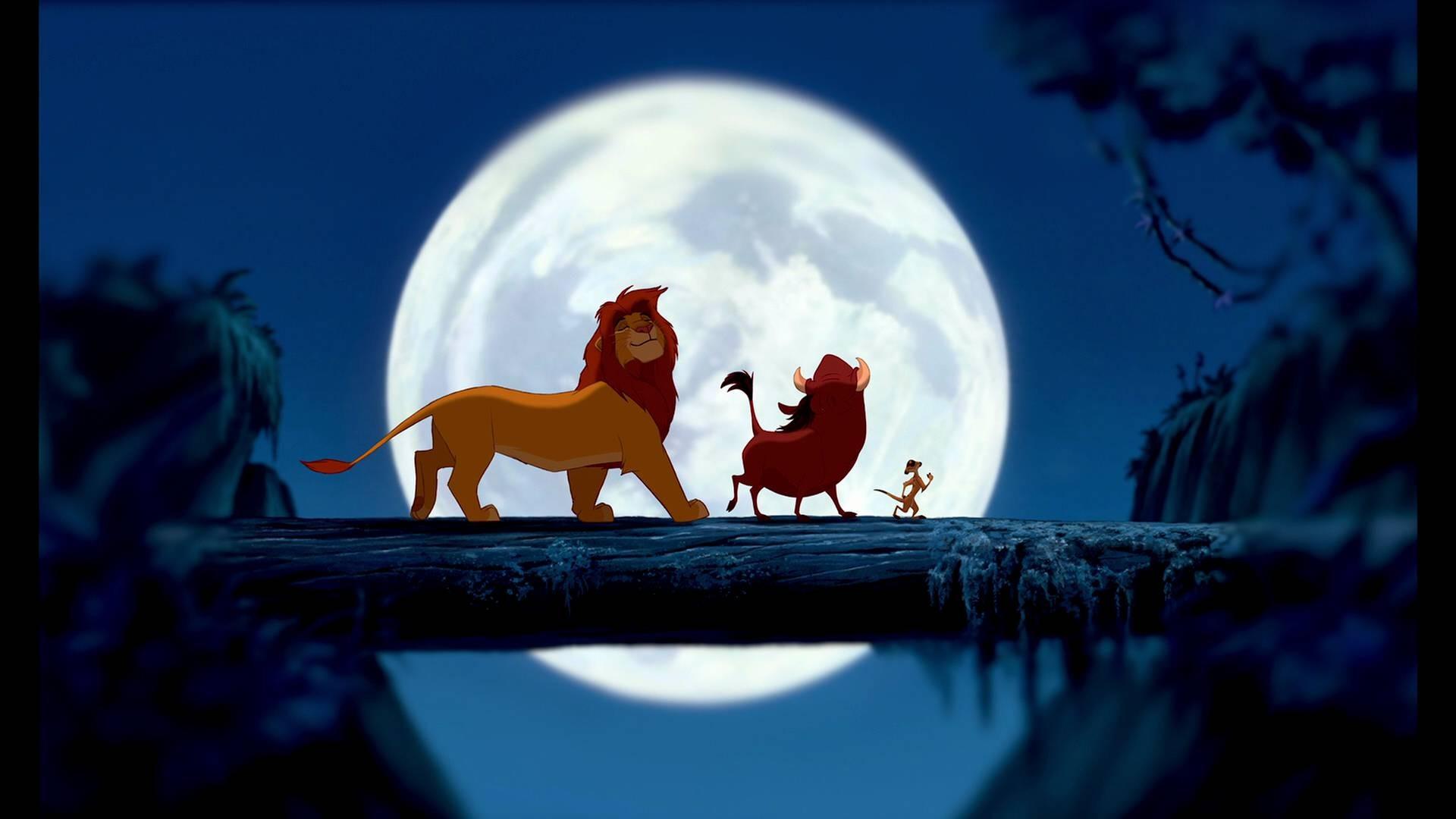 Digital Art Disney Company Minimalistic Movies The Lion King Vectors Wallpaper 1920x1080