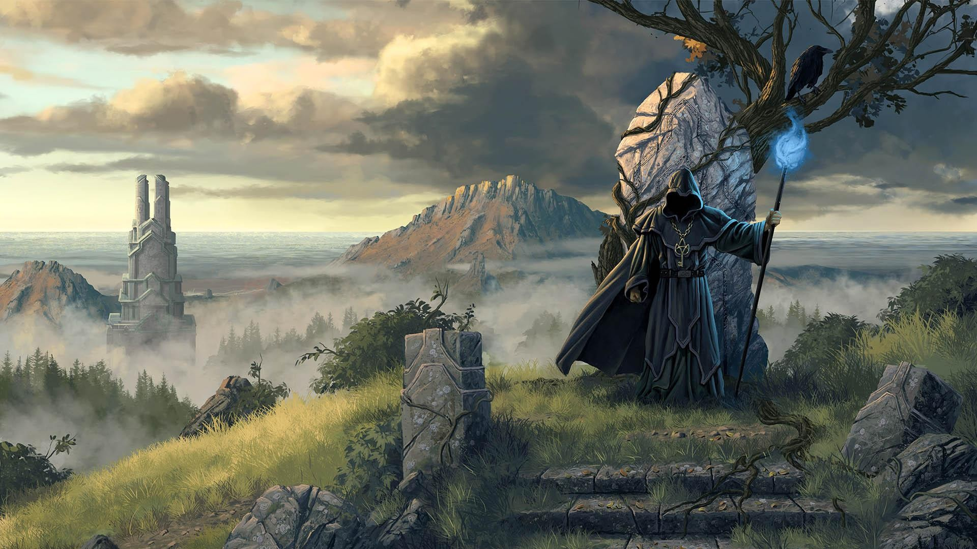 Fantasy Wizard Background 1 Hd Wallpapers
