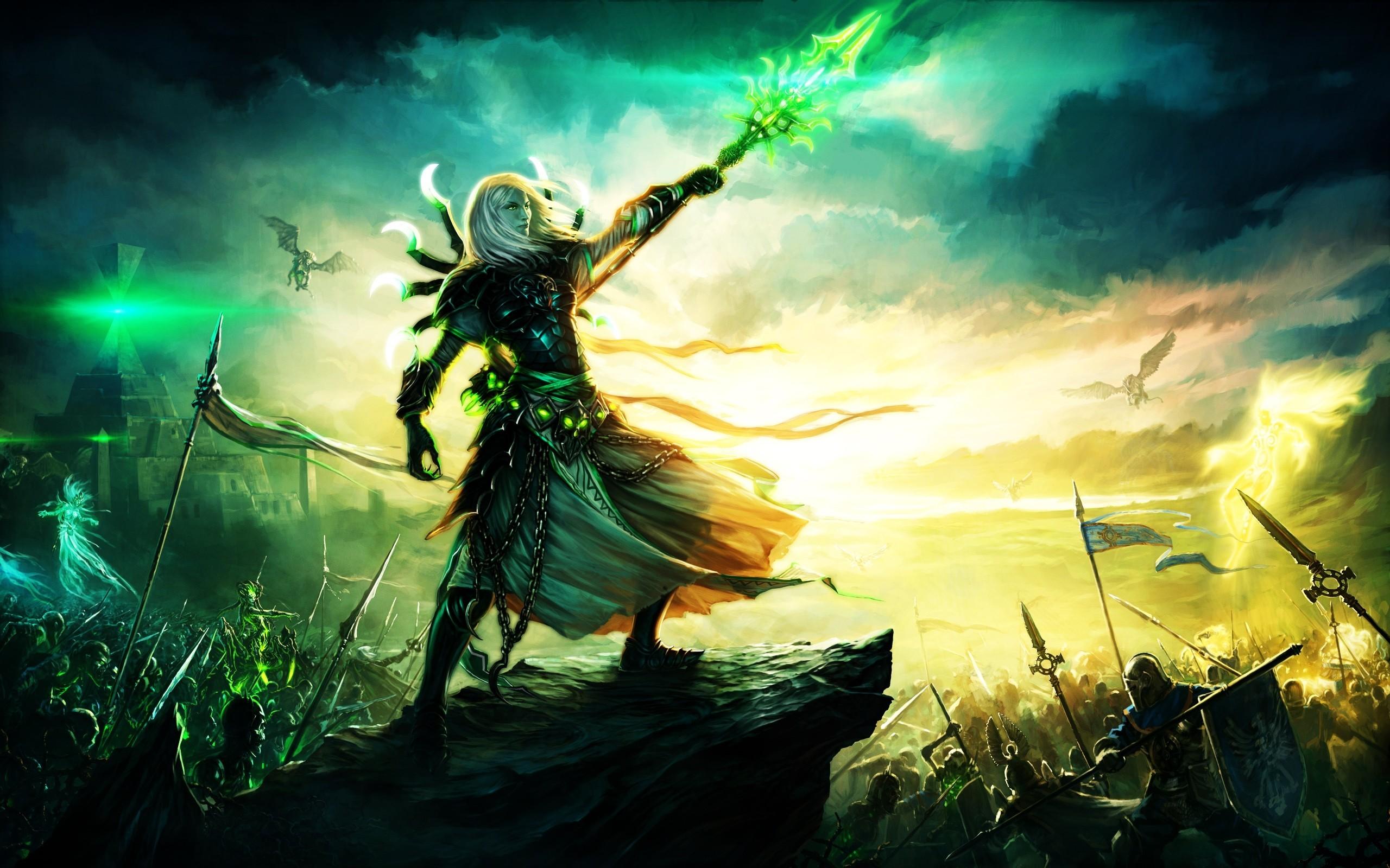 Epic Fantasy War Wallpaper ·①