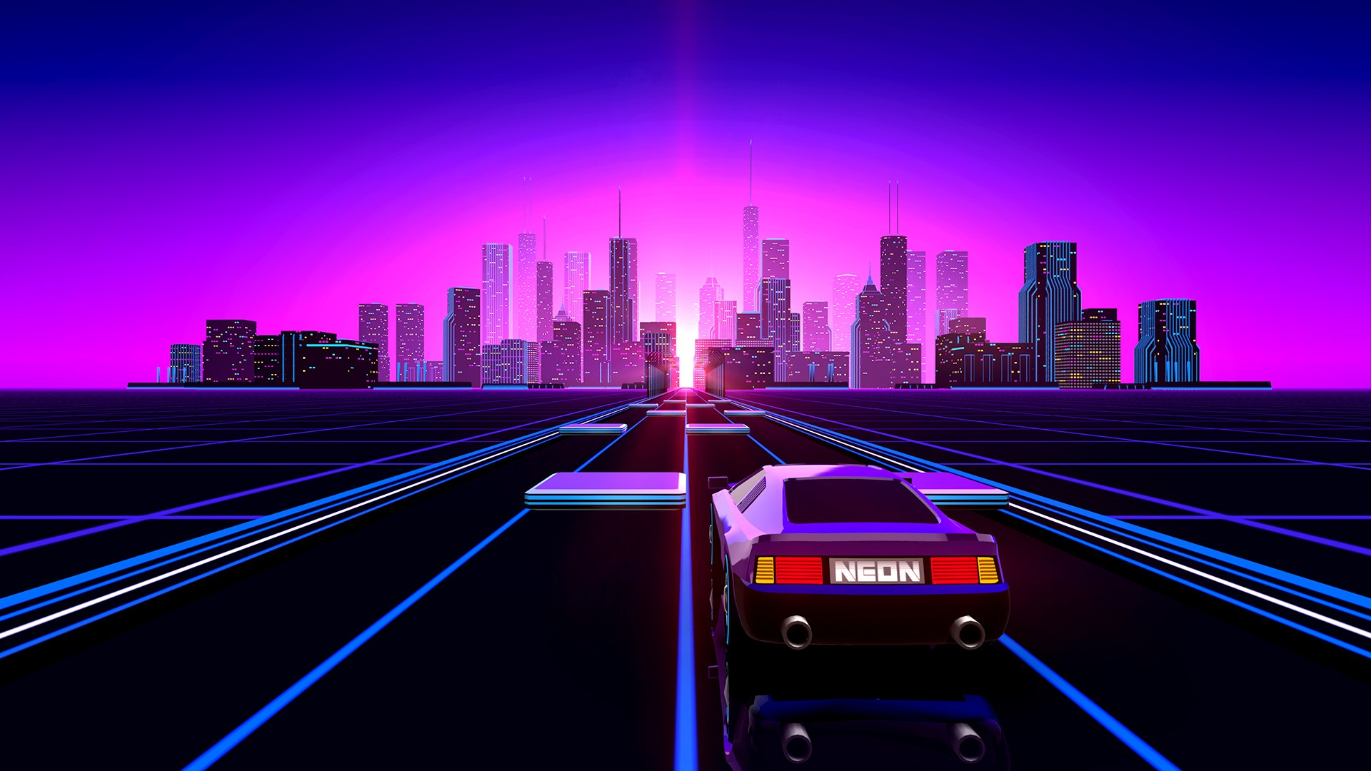 Synthwave Wallpaper Download Free High Resolution