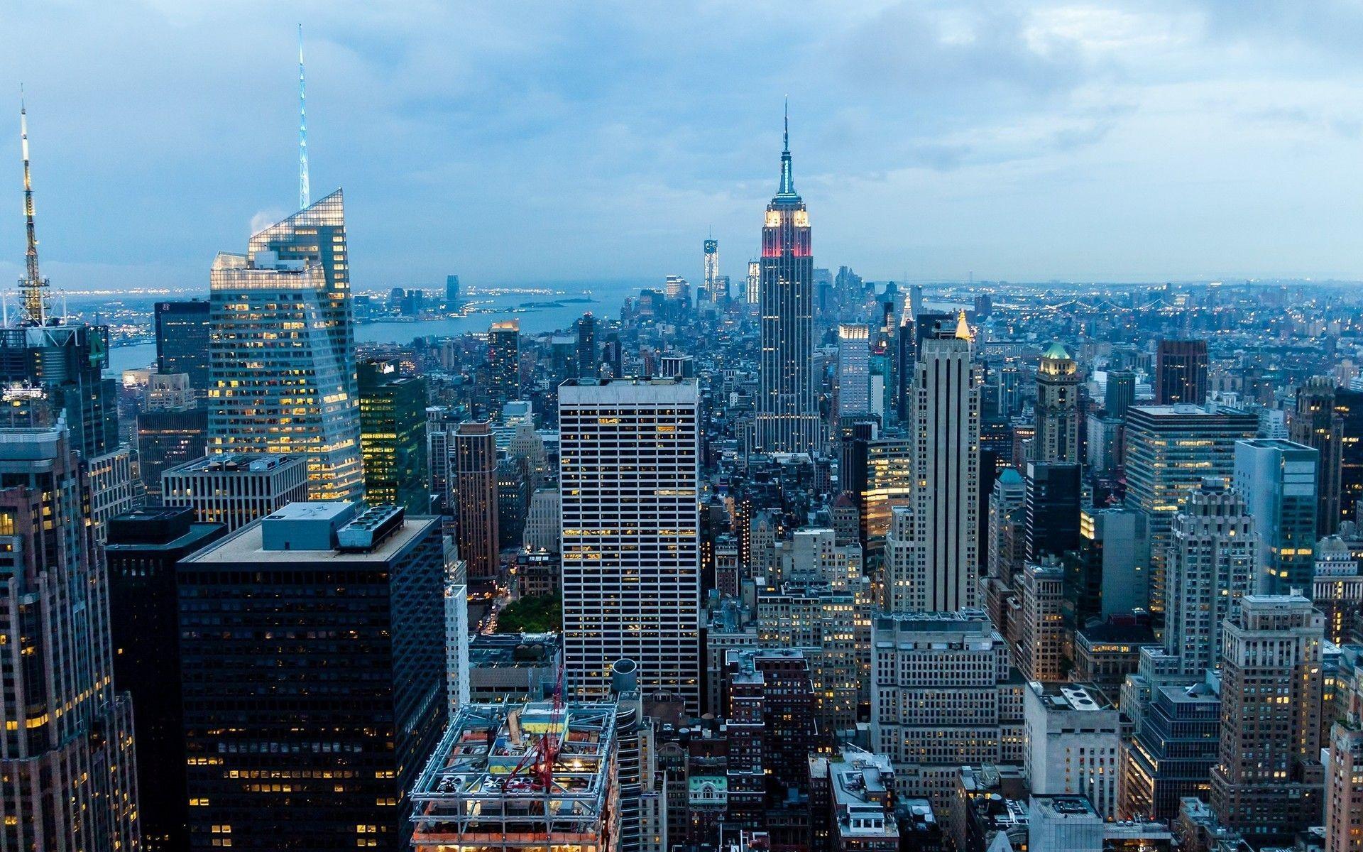 Манхэттен нью йорк обои на рабочий стол