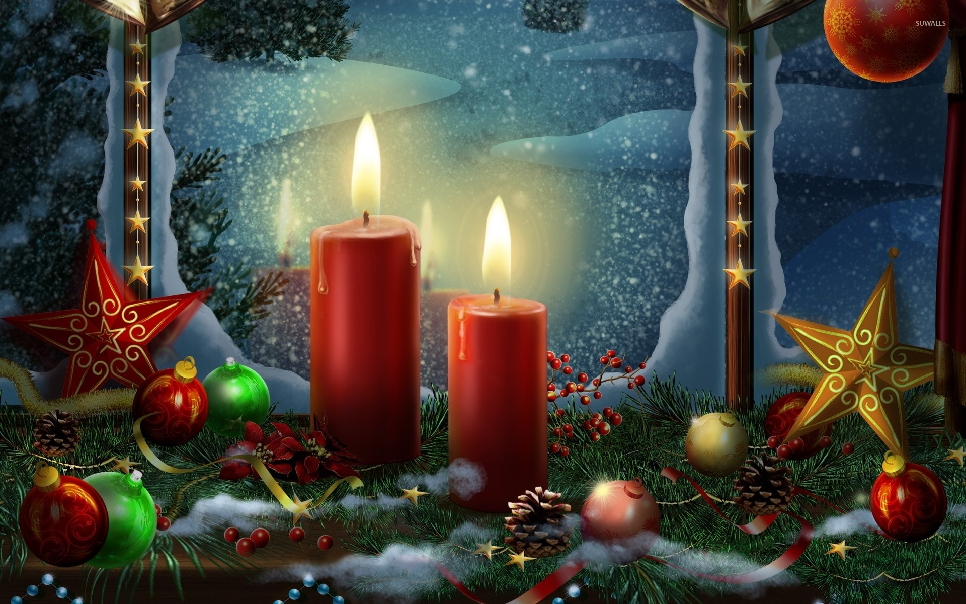 Christmas nativity scene wallpaper download free hd for Decoration wallpaper