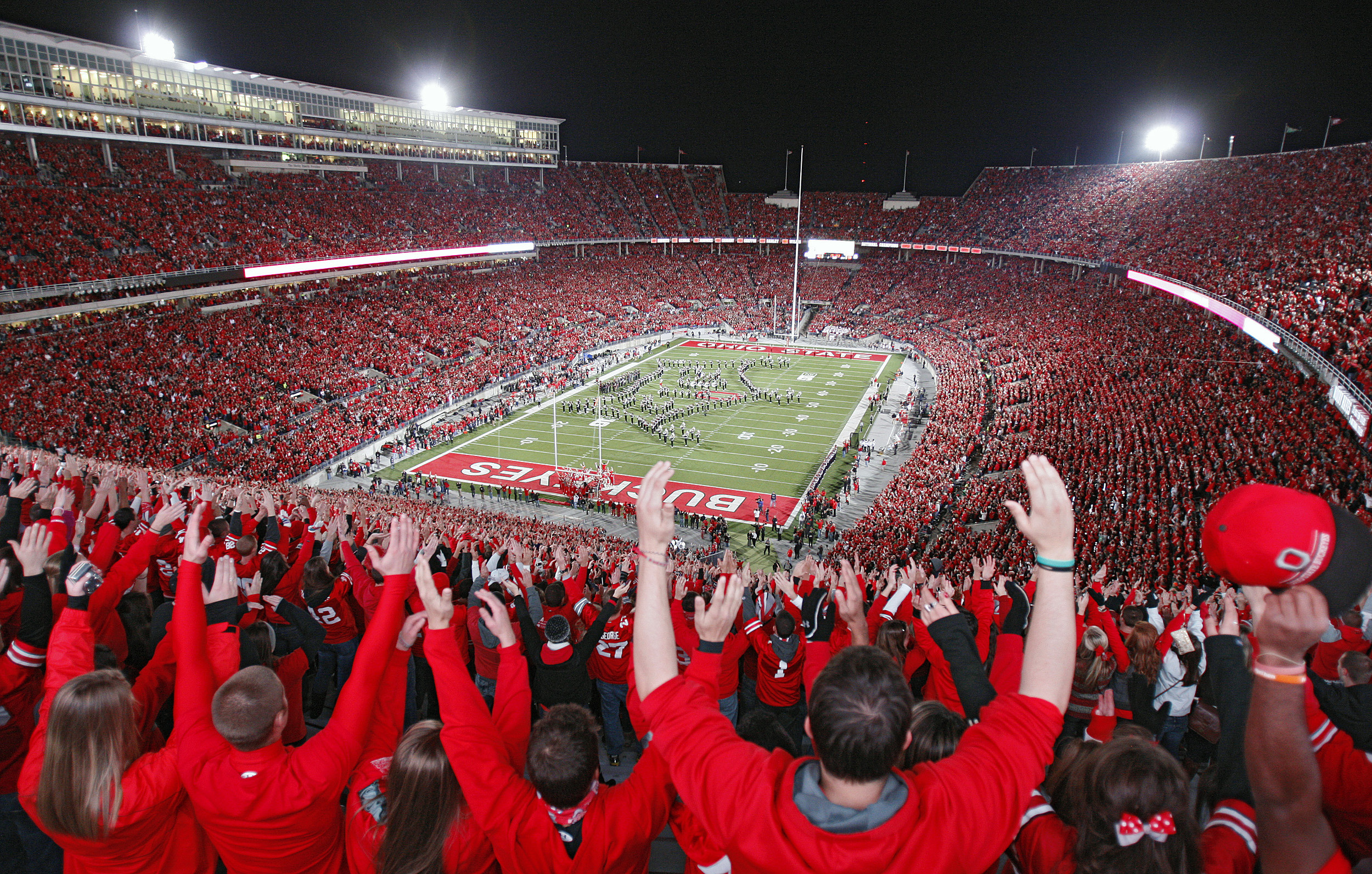 1920x1200 Download Stadium Scarlet Ohio State Football Hd Wallpapers