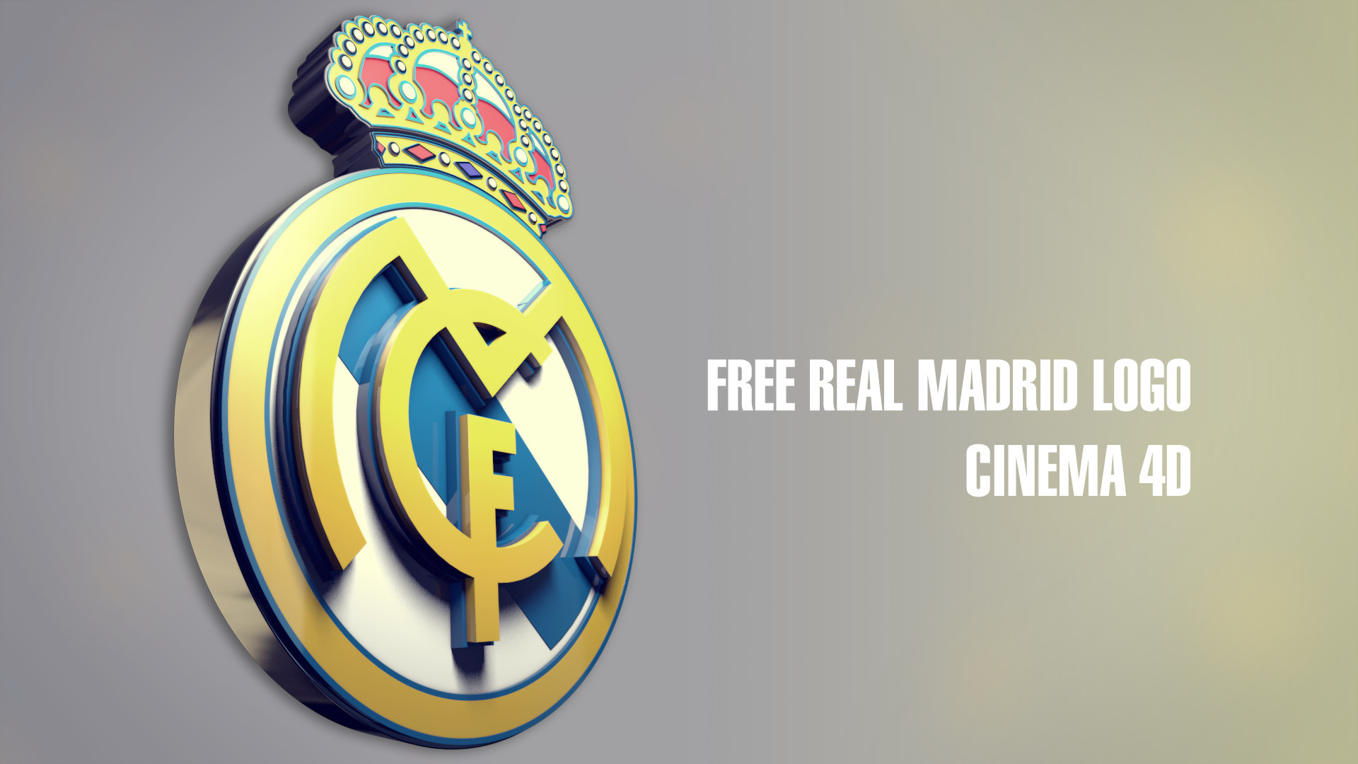 Wallpaper real madrid for windows xp - 1920x1080 1920x1080 Real Madrid 3d Logo Dekstop Wallpaper