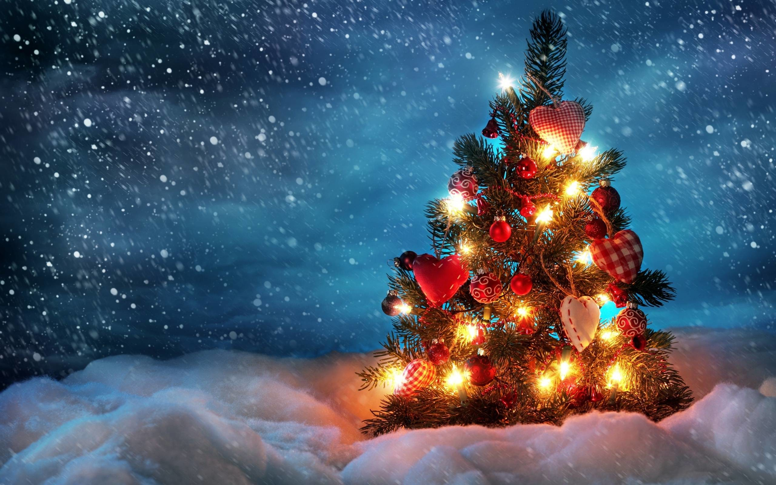 2560x1600 Wallpapers For Christmas Lights Snow Desktop Background Download Top