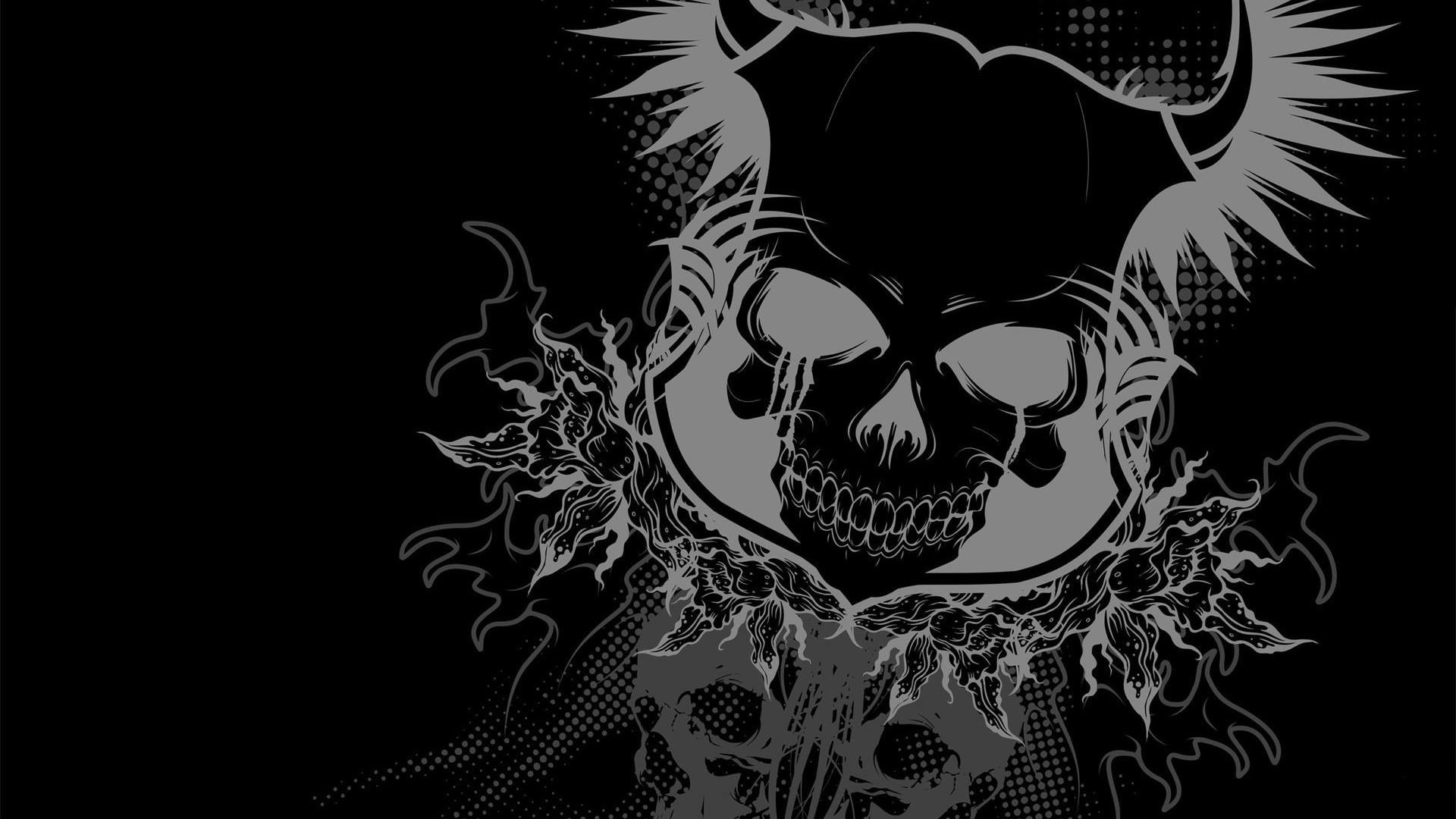 skull wallpaper free download