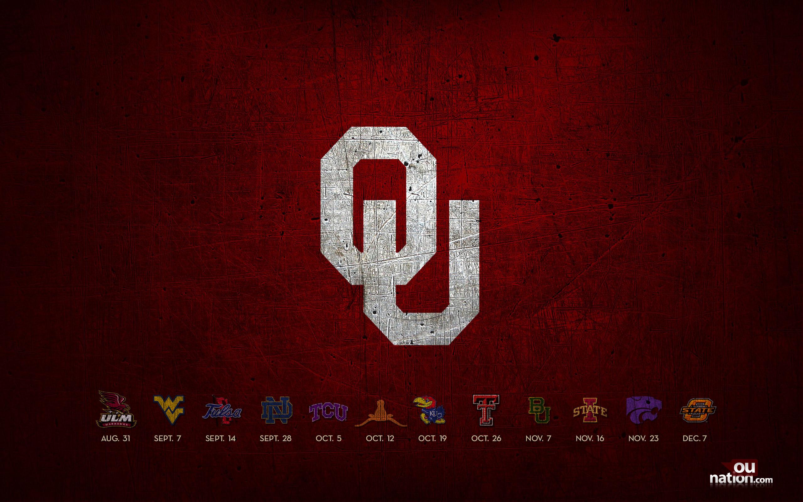 2018 Oklahoma University Football Schedule Wallpaper ·① ...