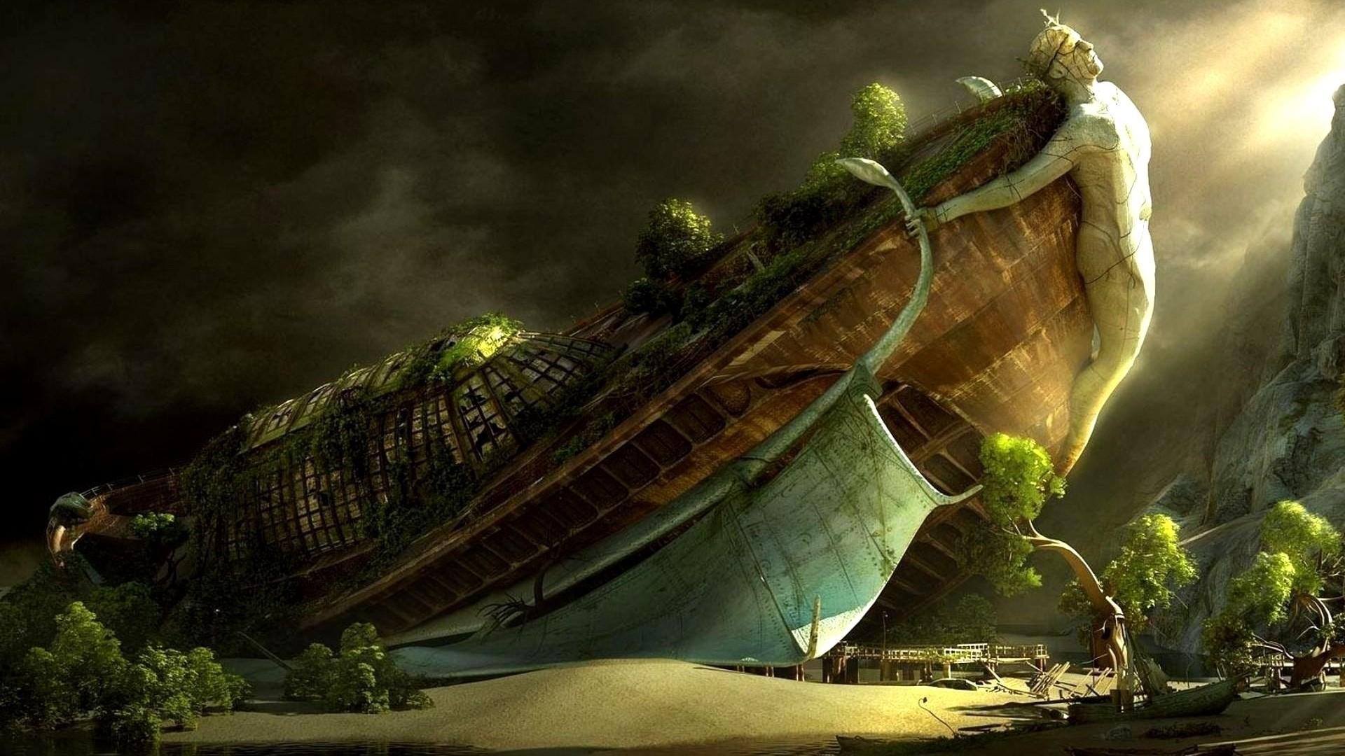 Noahs Titanic Ark Wallpaper