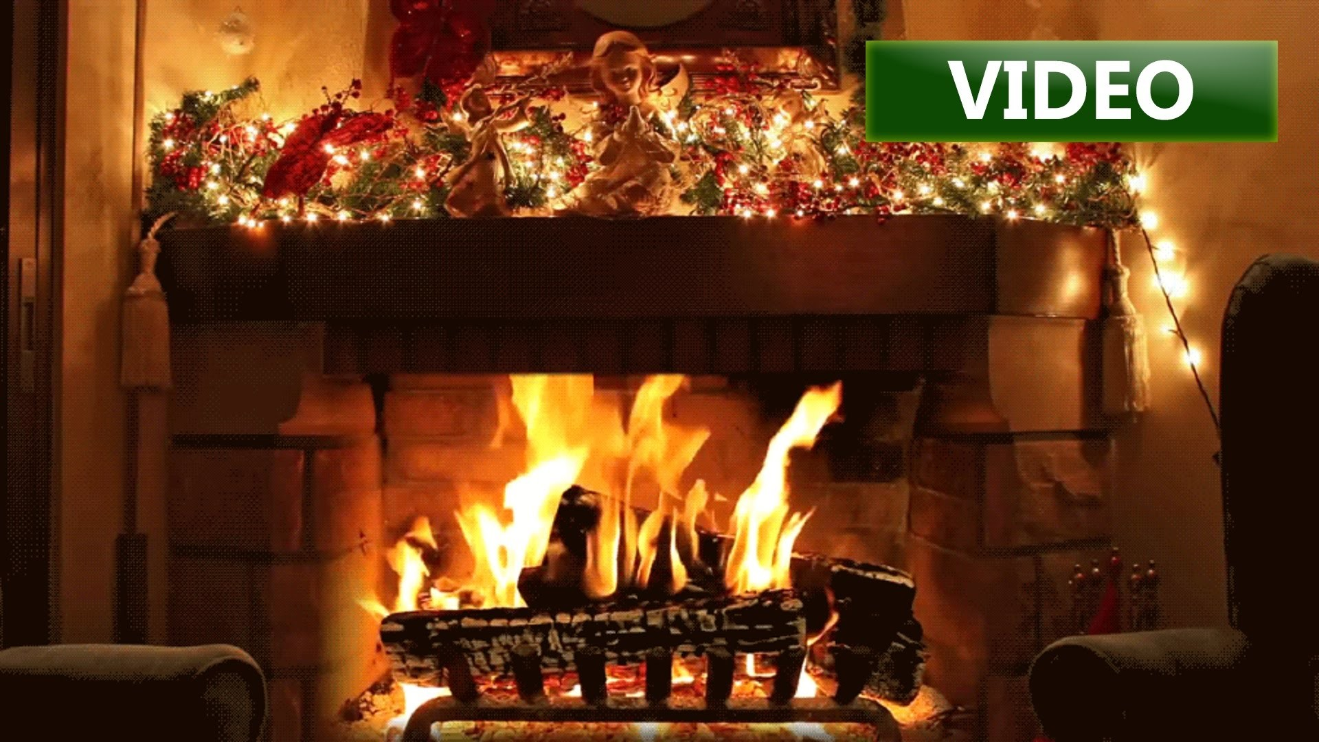 Christmas Fireplace Background 183 ① Wallpapertag
