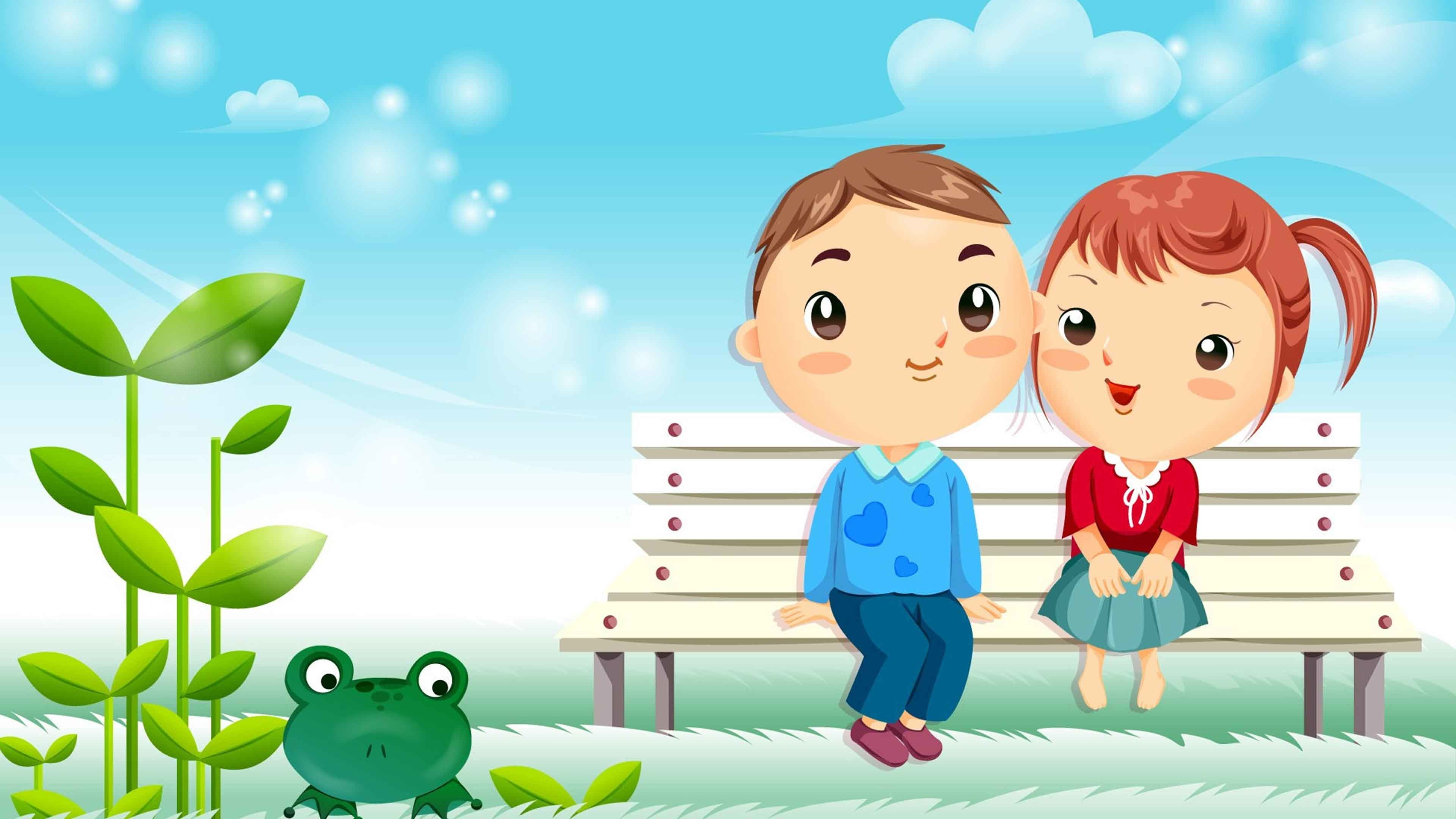 Cute cartoon wallpaper - Couple wallpaper download ...