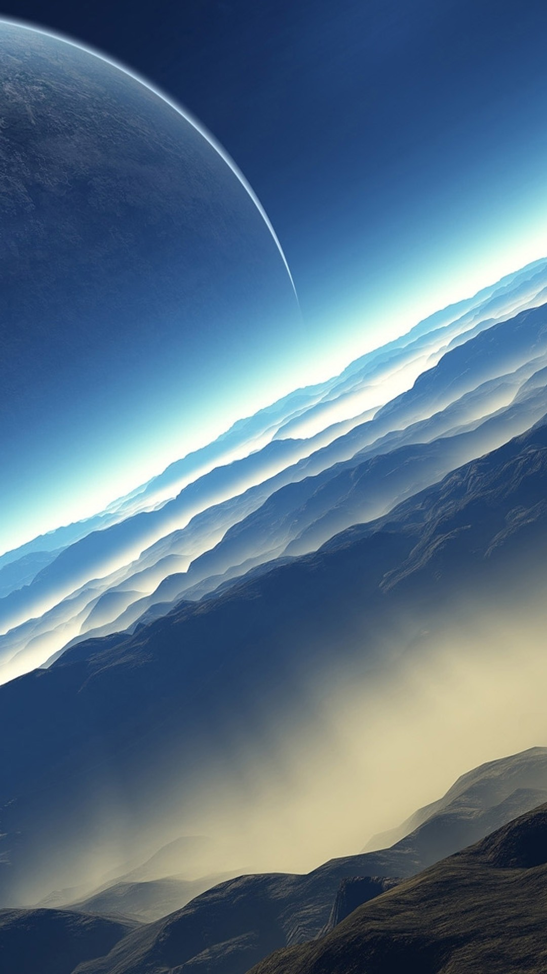 Blue Space wallpaper ·① Download free amazing wallpapers ...