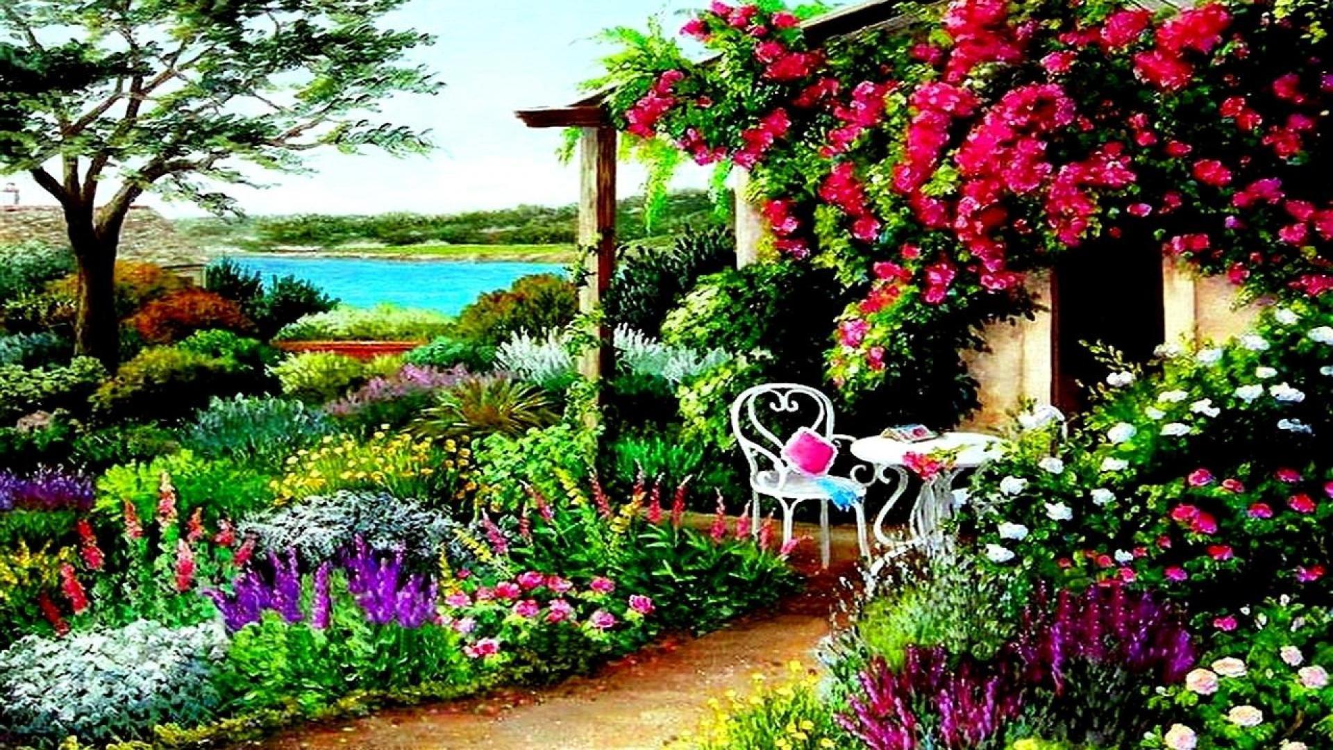 Spring garden wallpaper wallpapertag - Free computer backgrounds for spring ...