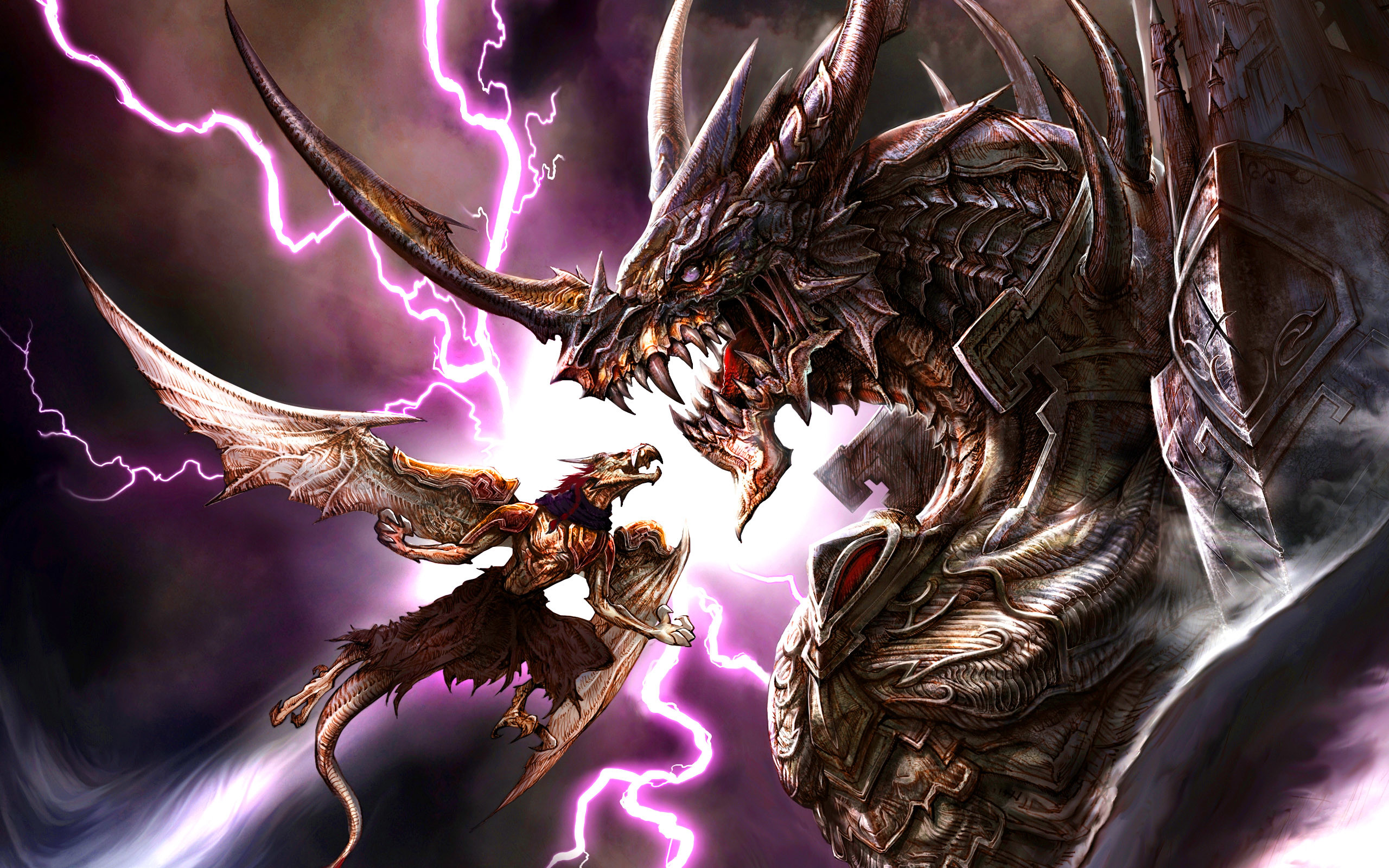 Black Lightning Dragon Wallpaper ·① WallpaperTag