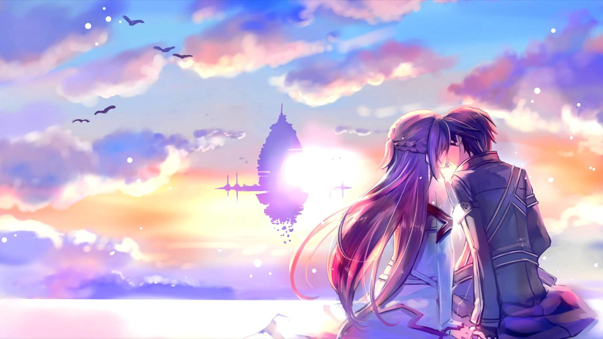 romantic anime wallpaper ·①