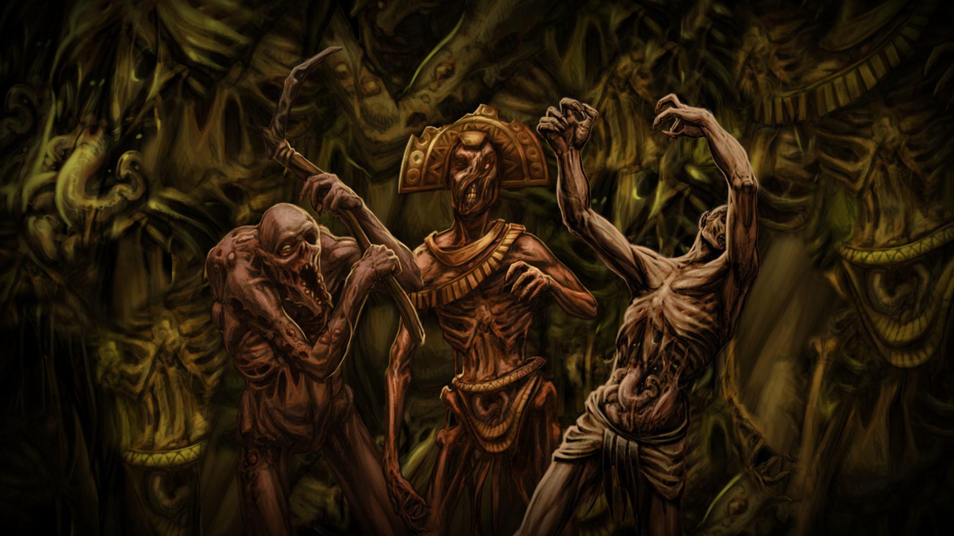 Zombie Horde Art Aztec Warrior W...