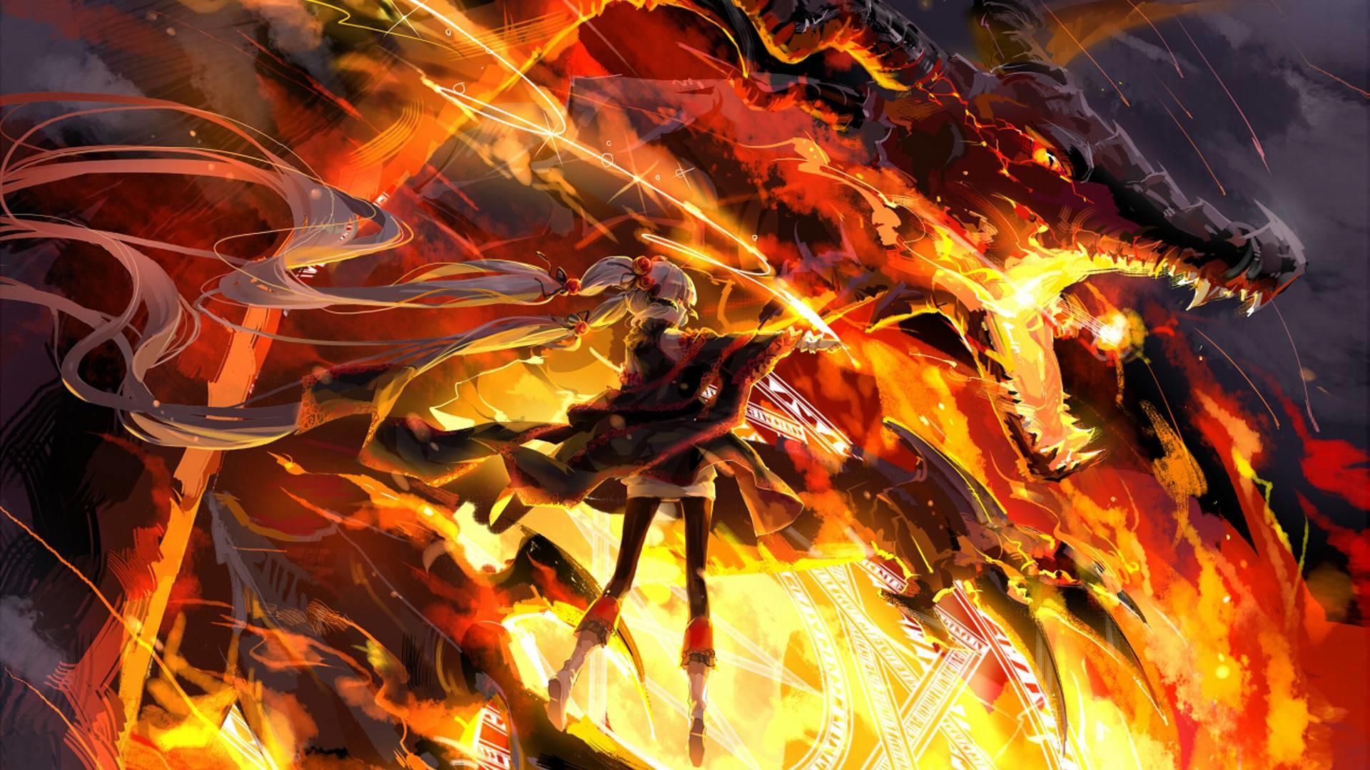 Fire Dragon Wallpaper ·①